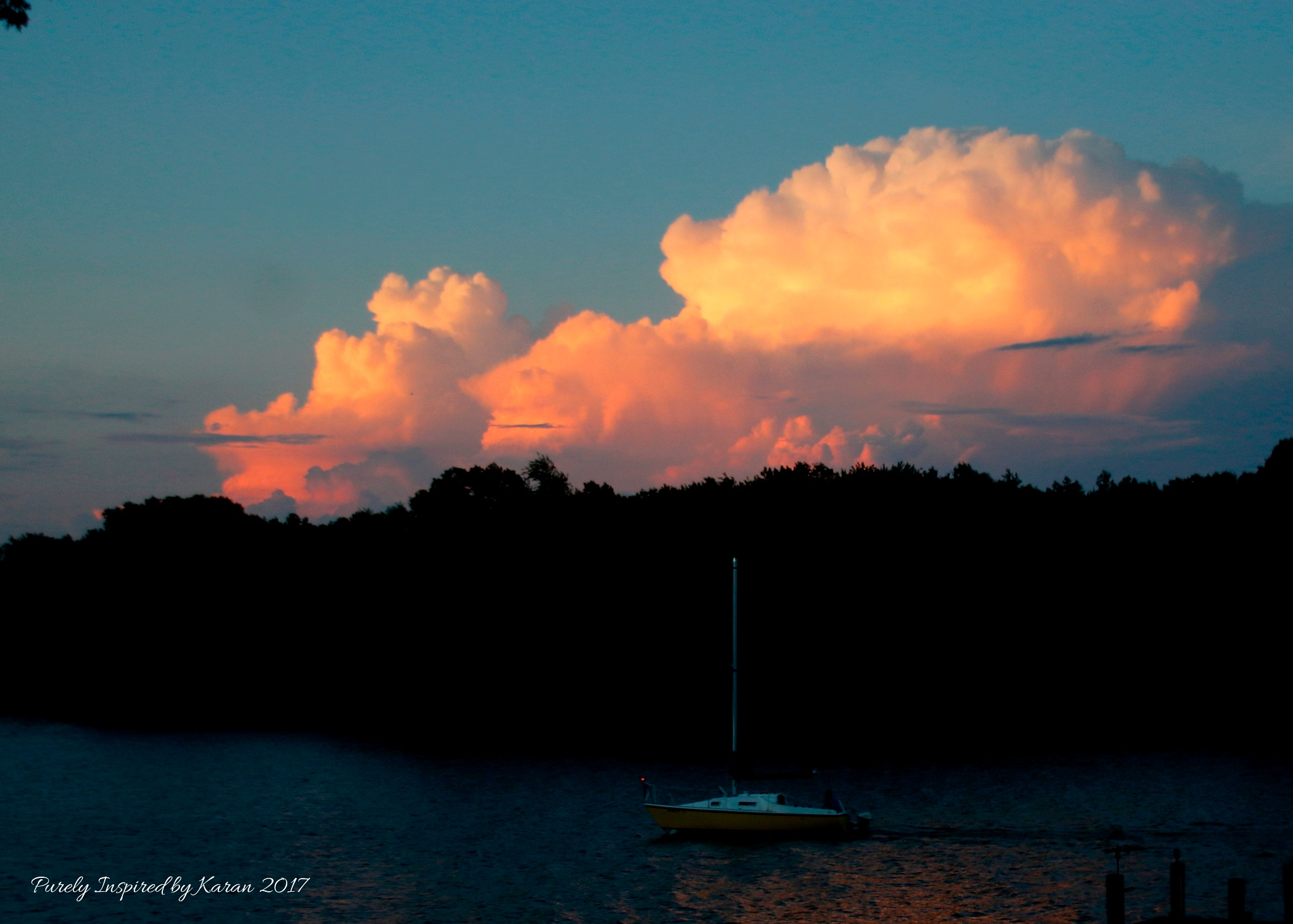 Storm Clouds at Sunset by Purely Inspired by Karan