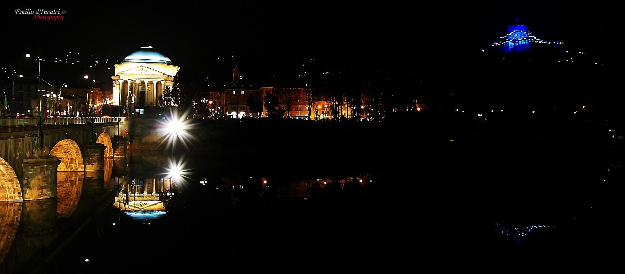 Turin by Night by Emilio d'Incalci