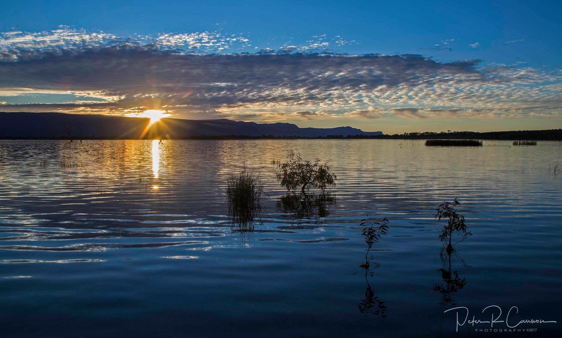 Sunset at Lake Fyans  by Peter Cannon