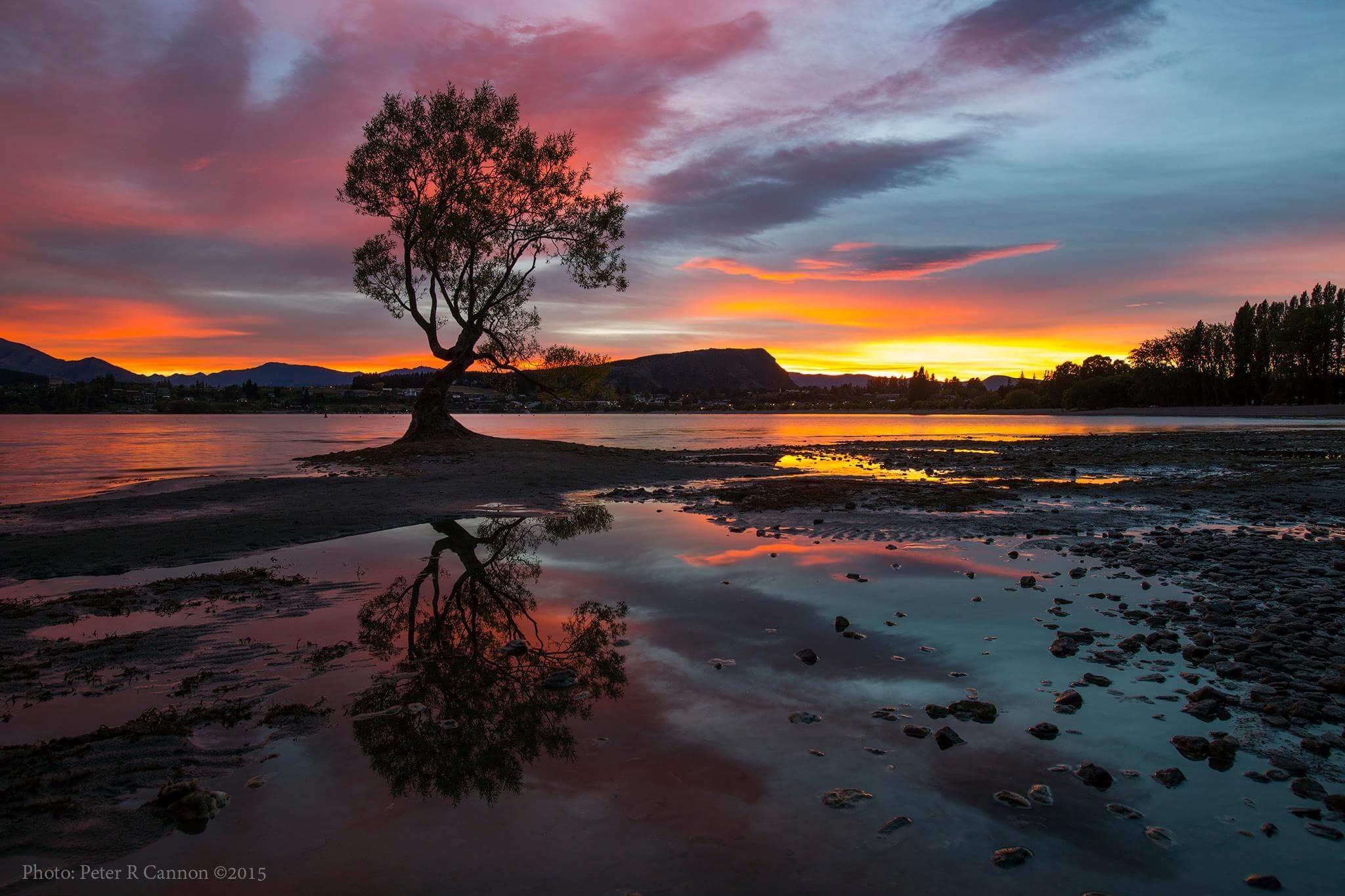Sunrise over Lake Wanaka New Zealand  by Peter Cannon