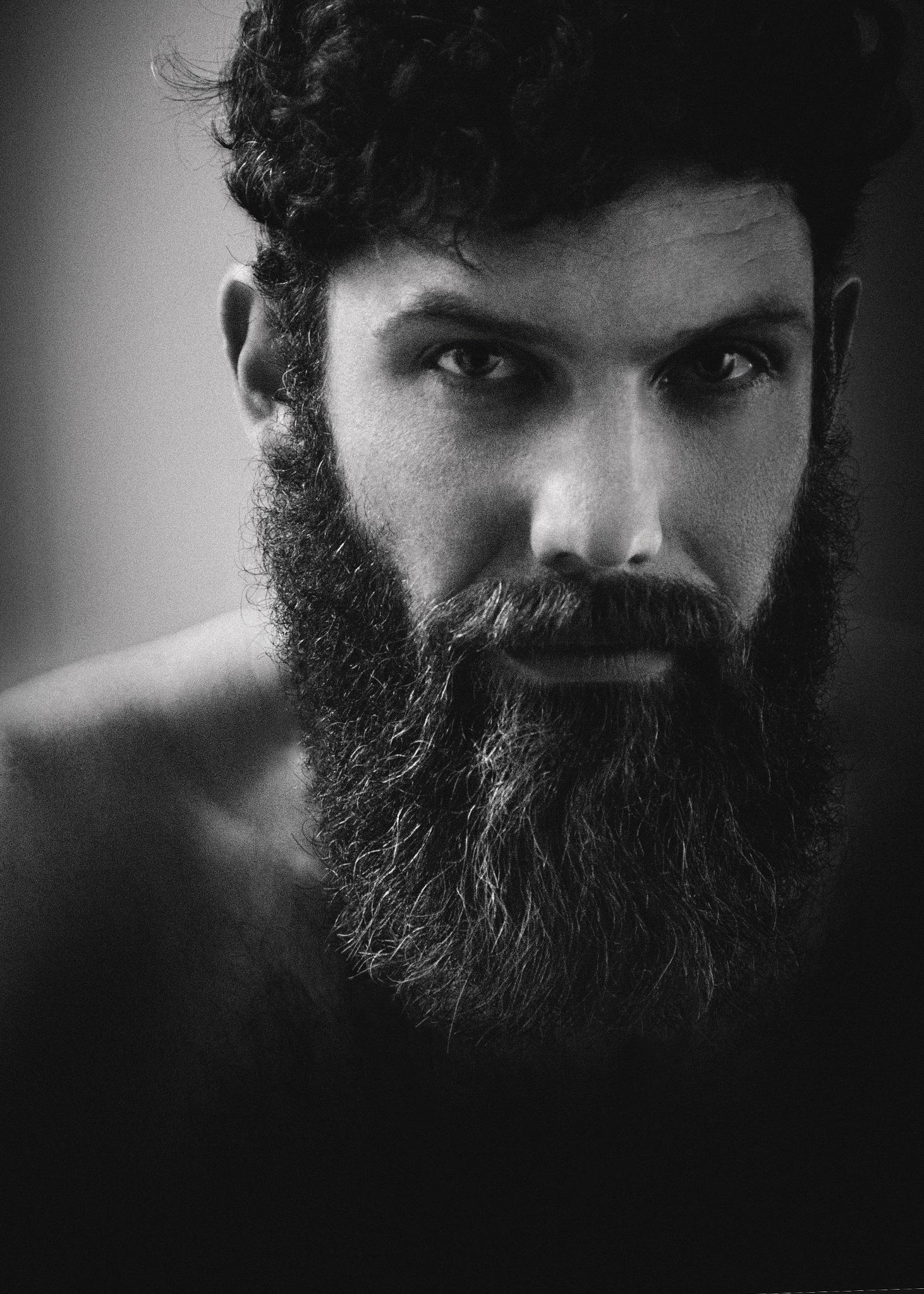 bearded man by Kristina Zvinakeviciute