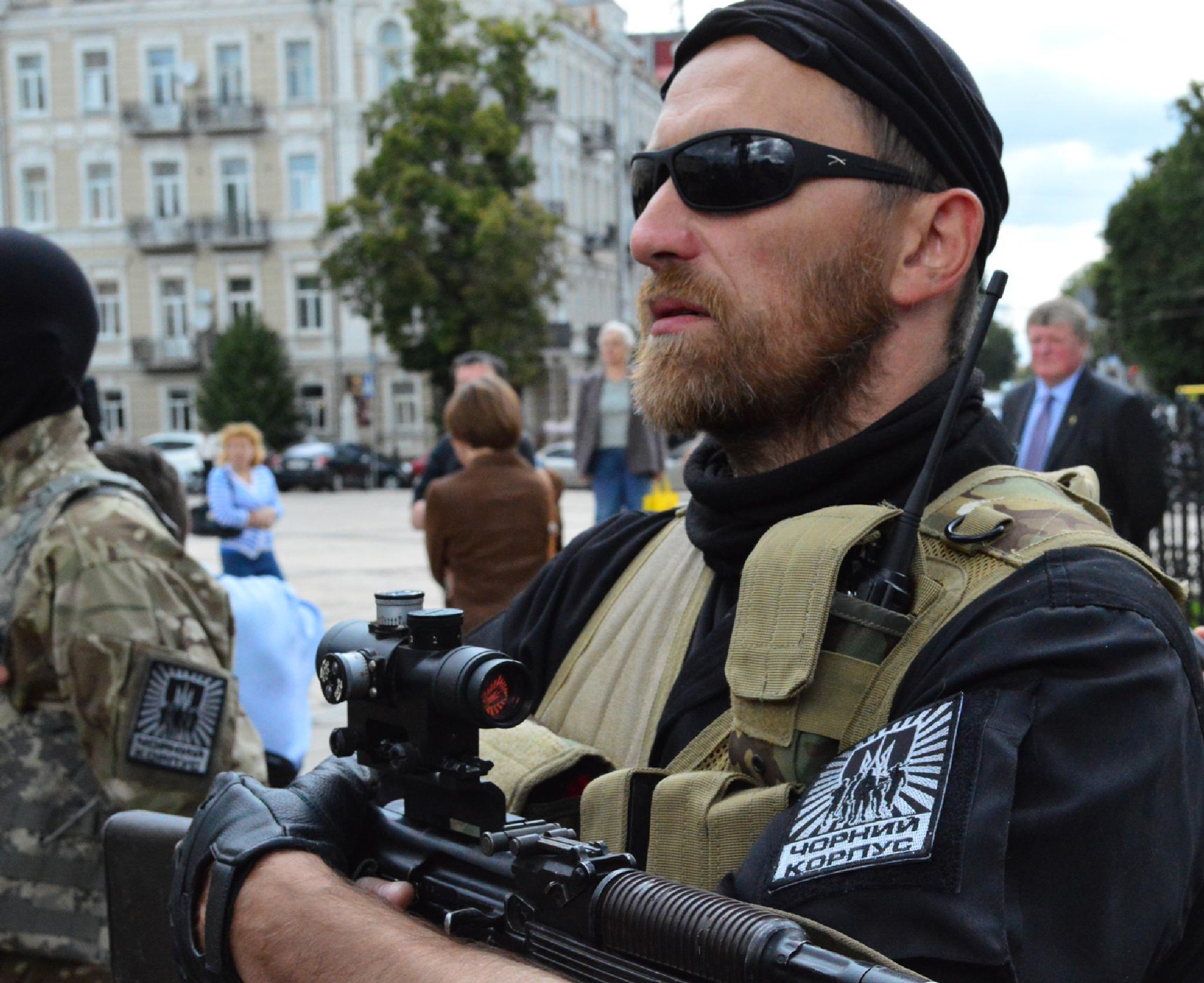 "The war in Ukraine. A year ago. Volunteer Battalion ""Azov"". by Sergey Pylnyk"