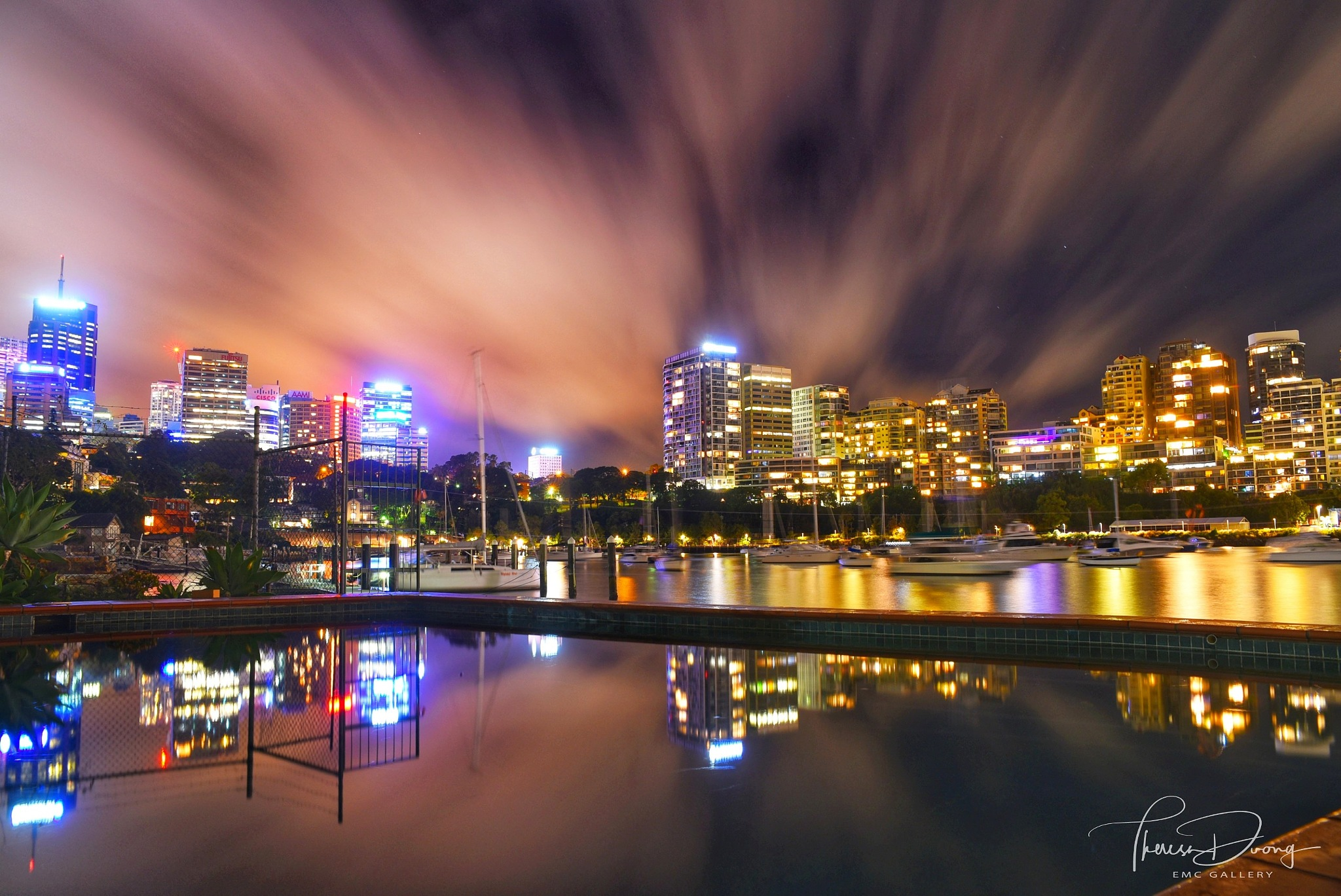 Night views from McMahons Point by Theresa Duong
