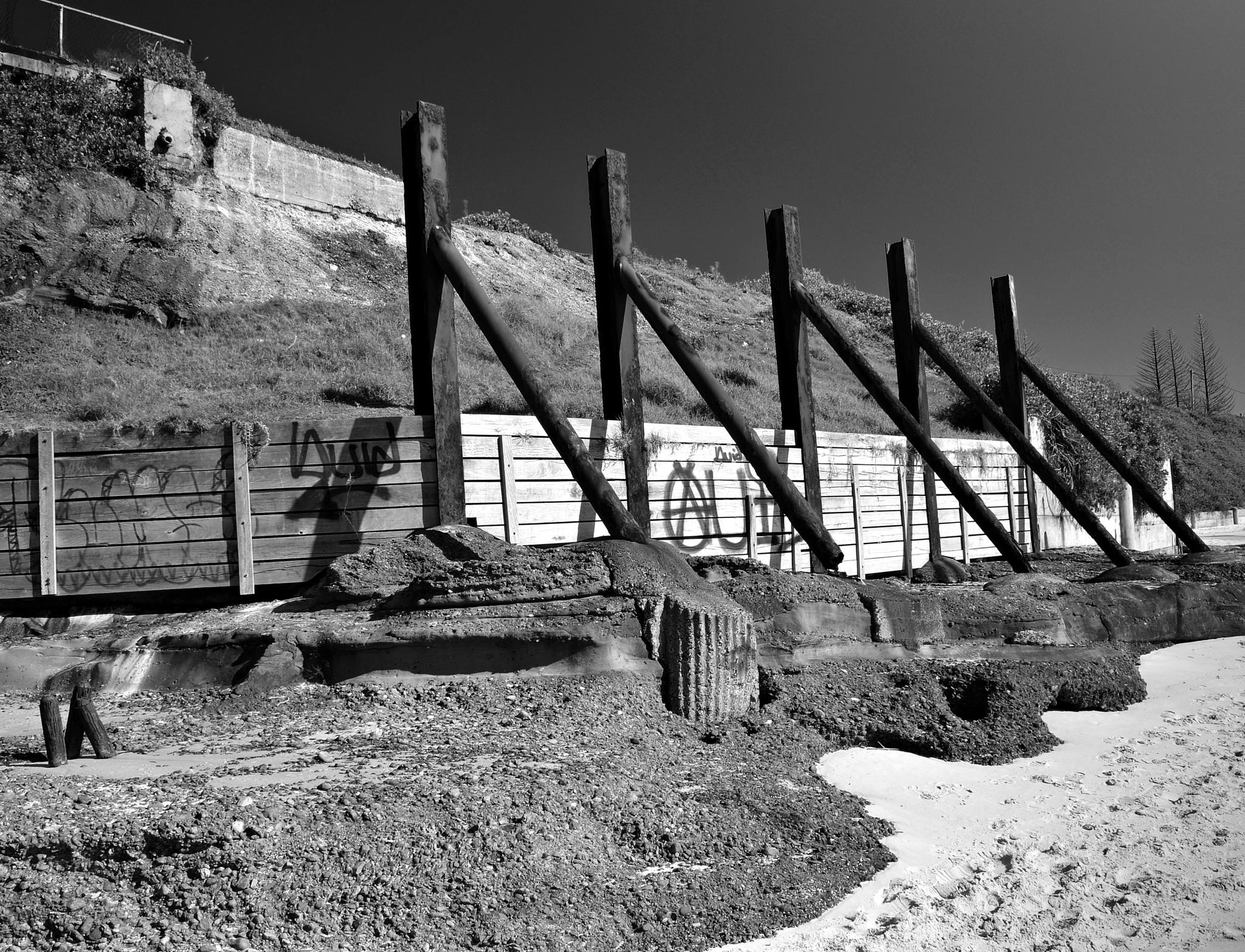 Photo in Sea and Sand #black and white #rustic #history #coal #sea and sand #catherine hill bay #random