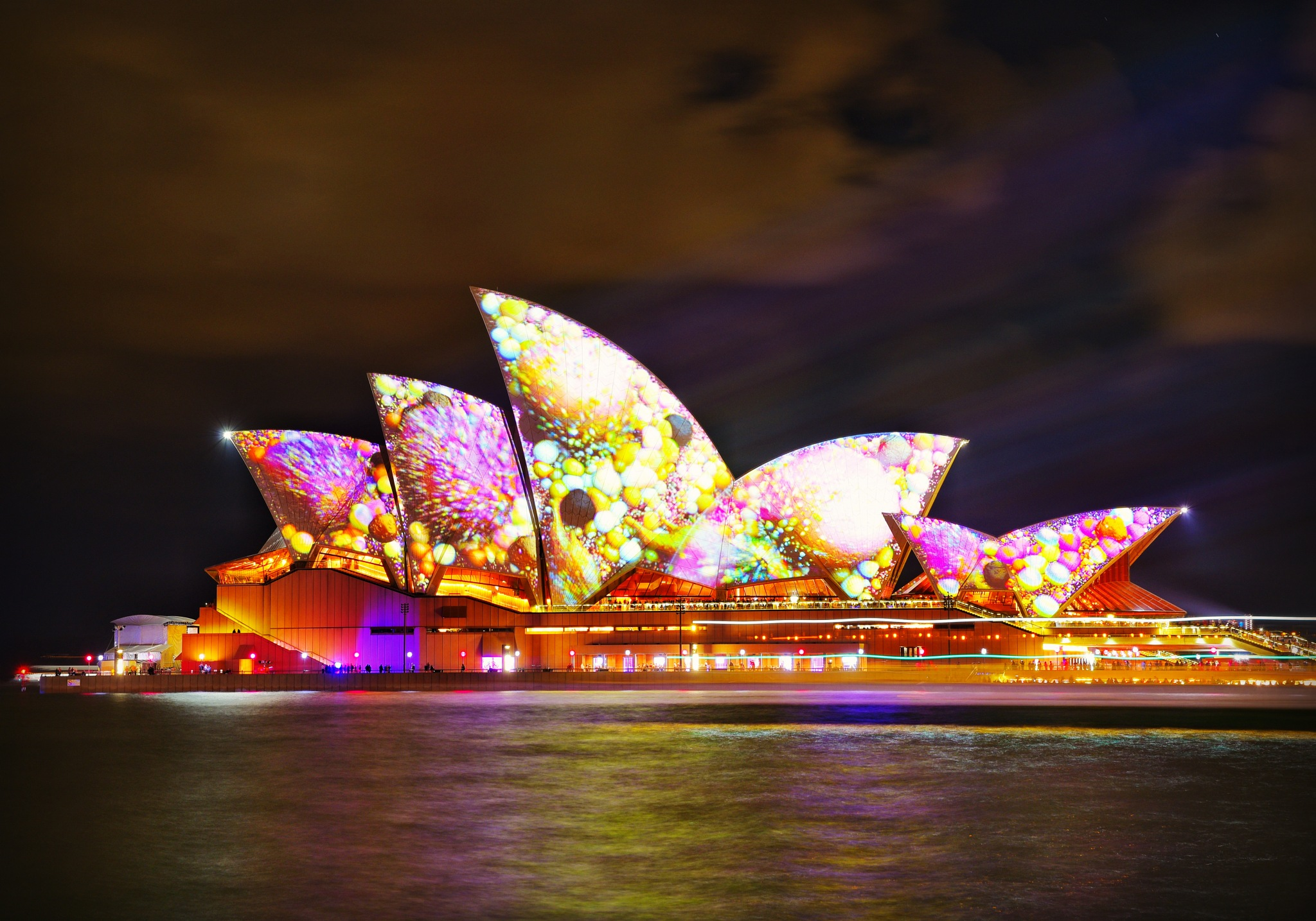 Sydney Sails light up!  by Theresa Duong
