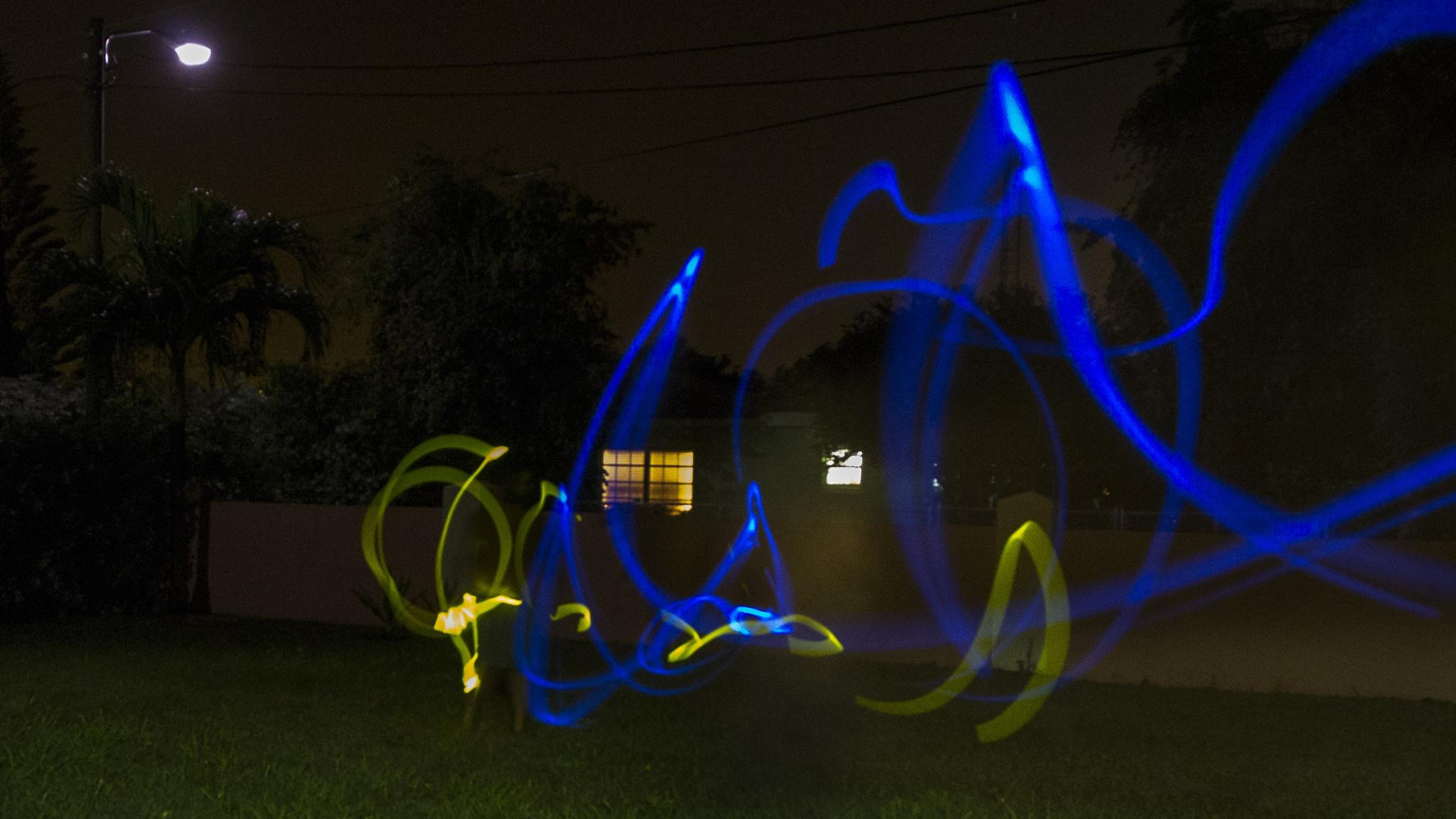 Photo in Abstract #light painting #cayman #no choice but cuc #sparky