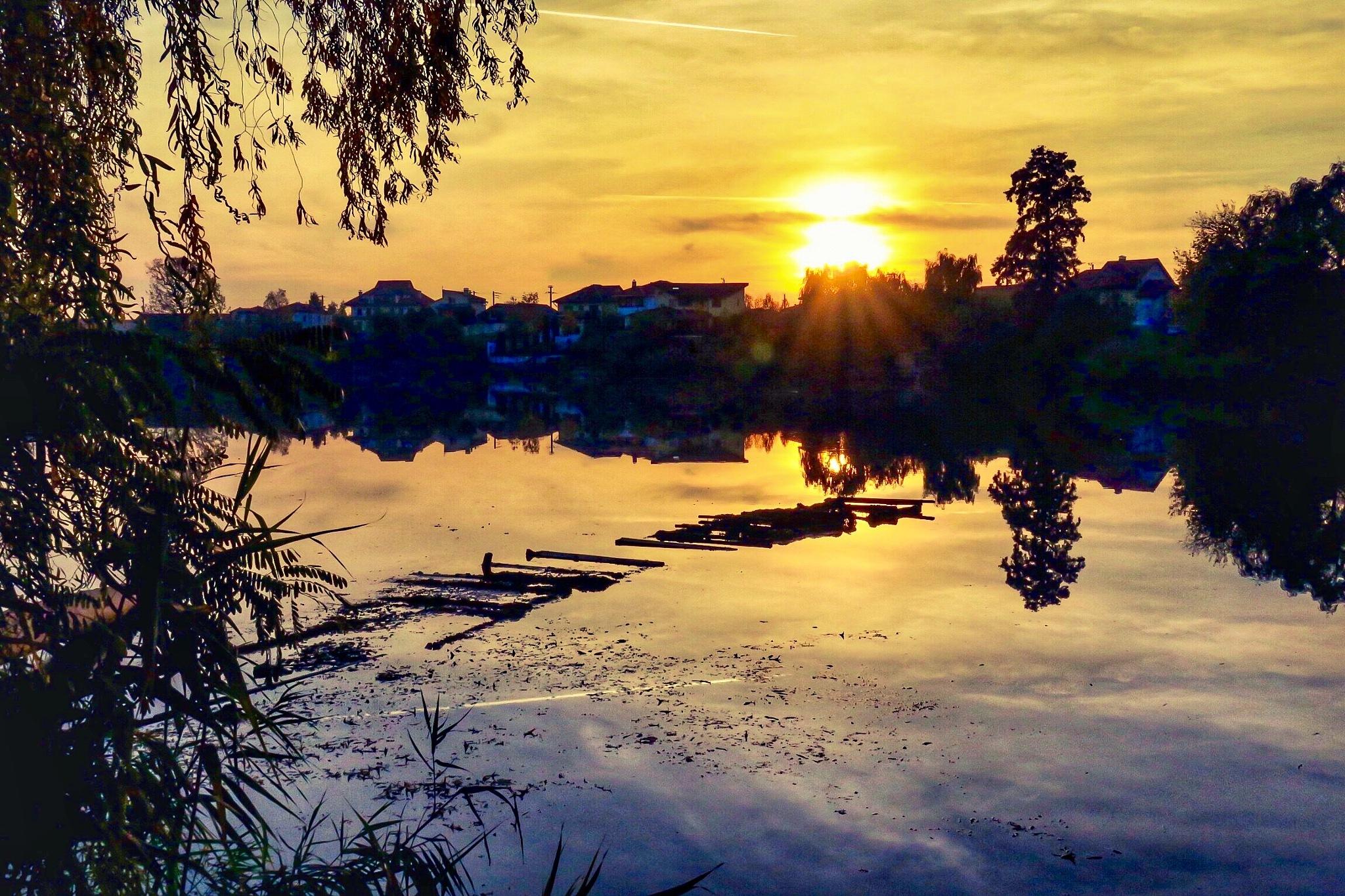 Yellow sunset by Adi Gli