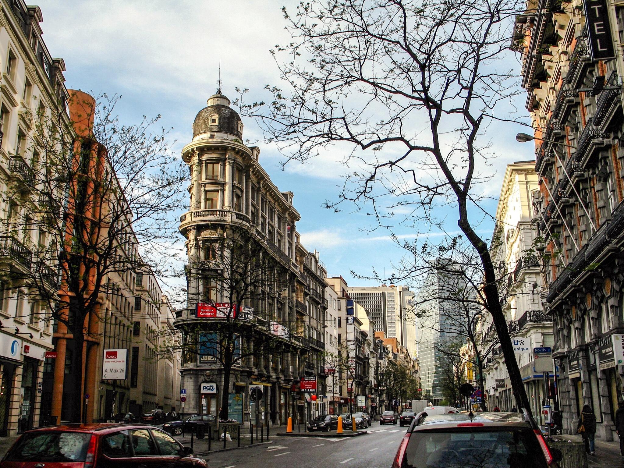 Bruxelles cityscape  by Adi Gli