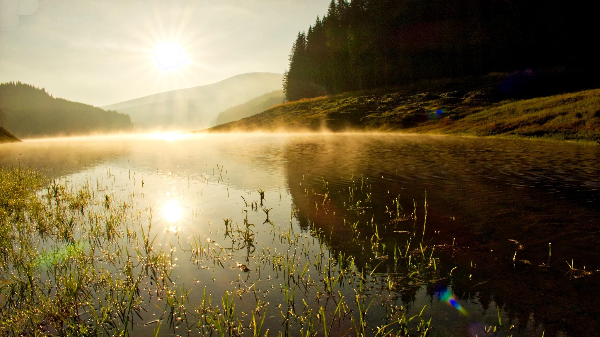 boiling waters at sunrise by Adi Gli