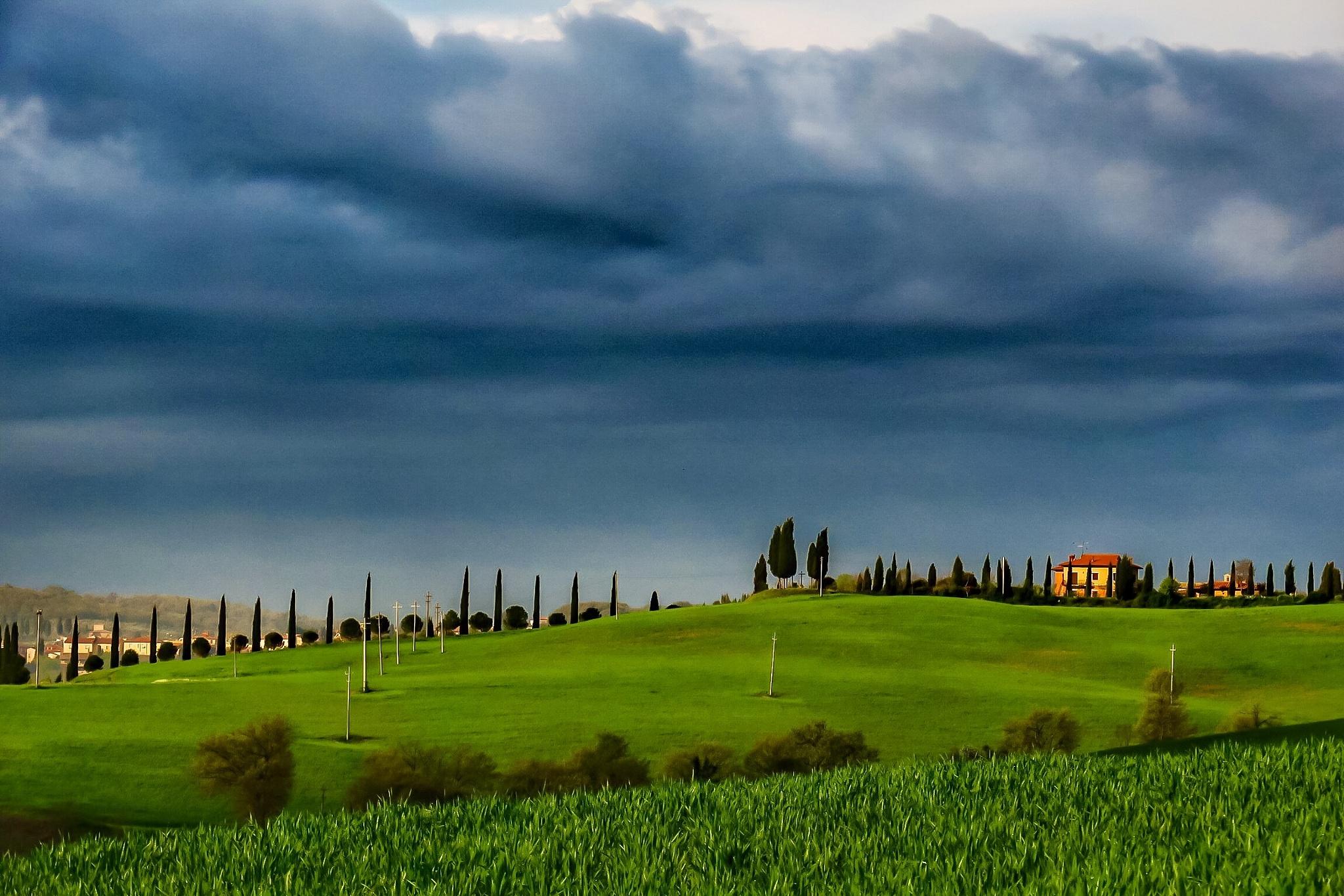 1/3 green,2/3 cloudy blue by Adi Gli