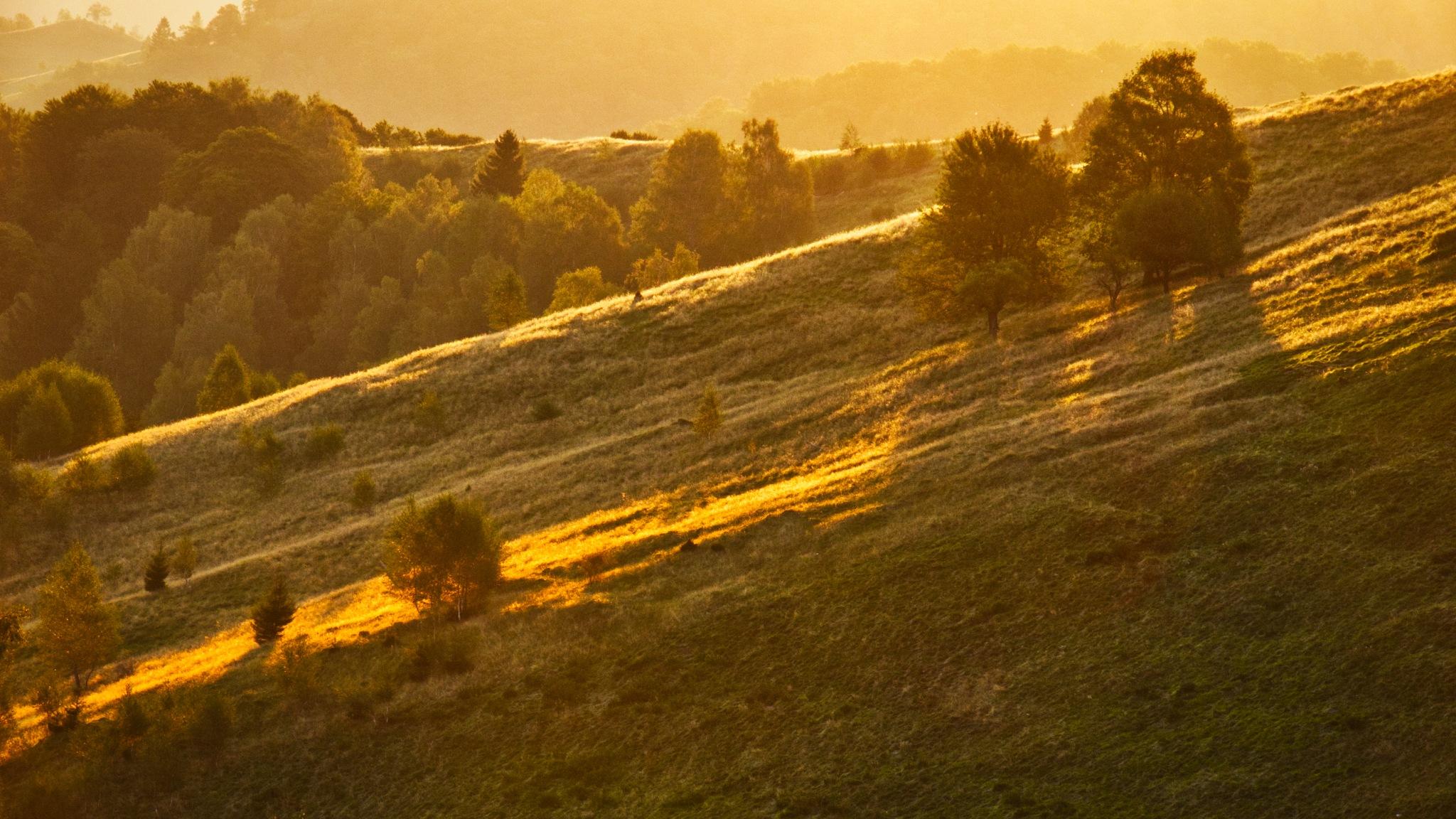 hills, lights and shadows by Adi Gli