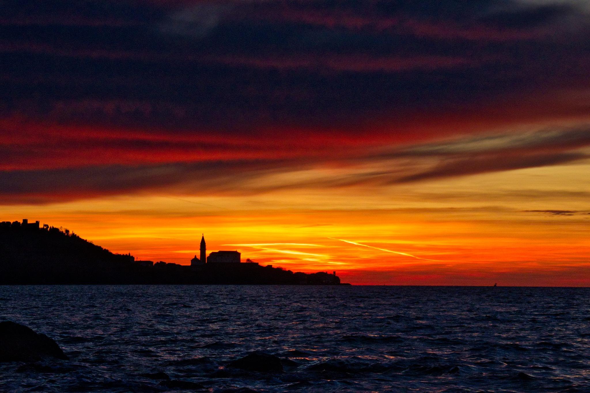 Dramatic sunset 3 by Adi Gli