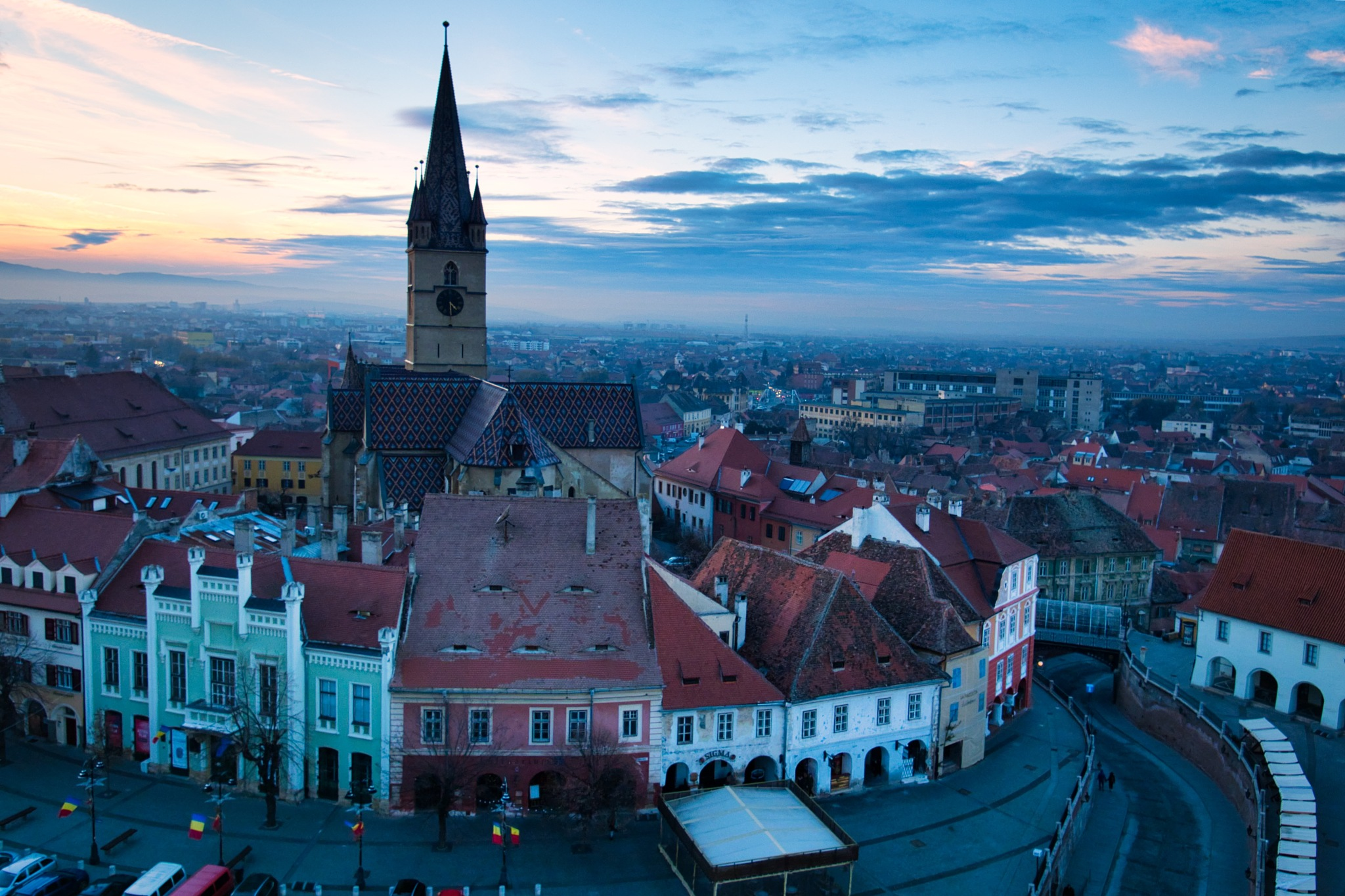 Sibiu at the end of the day by Adi Gli