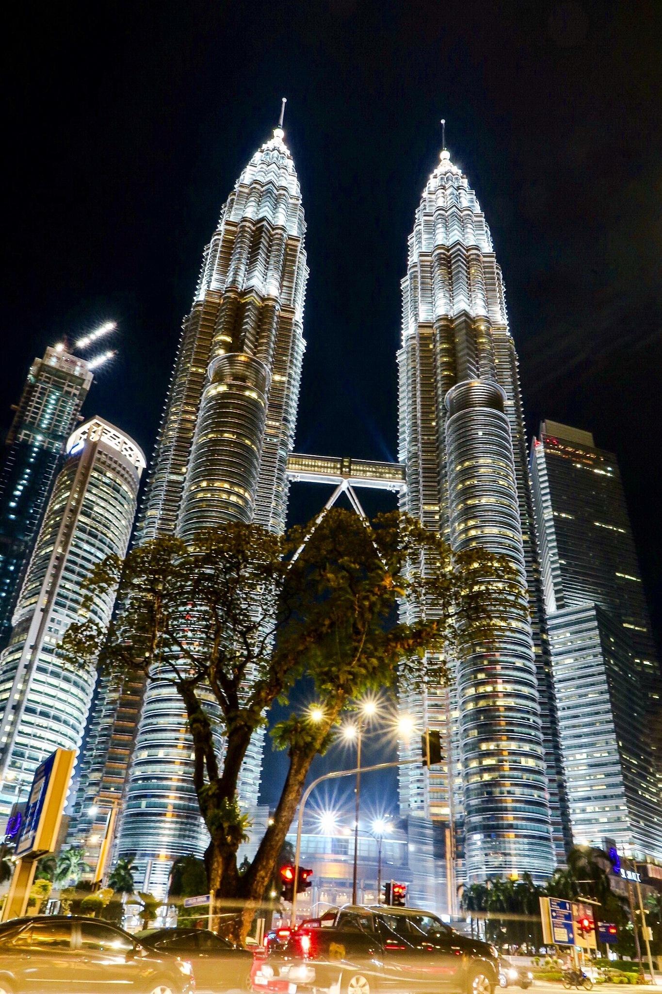 Petronas Twin Towers by night  by Adi Gli