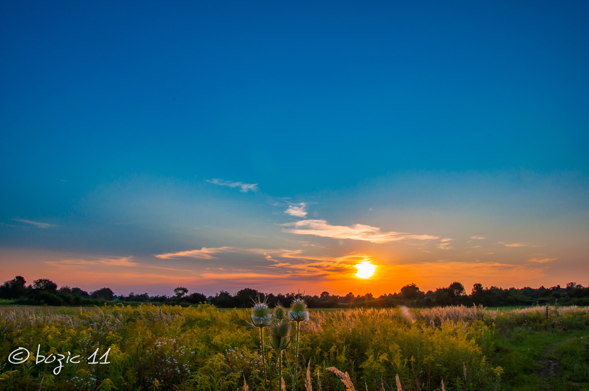 sunset by Robert