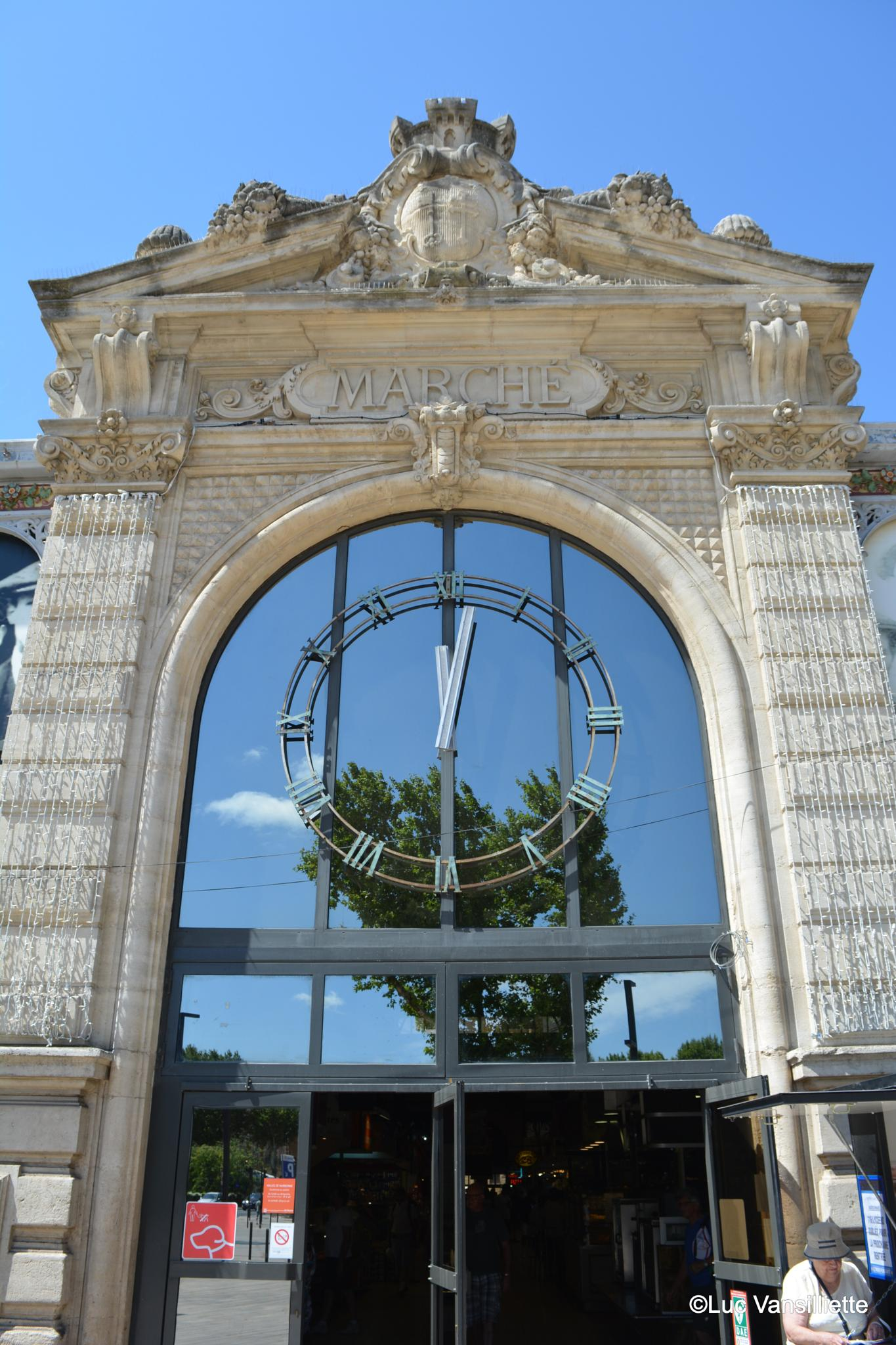 Entrance of Narbonne covered Market  by Luc Vansilliette