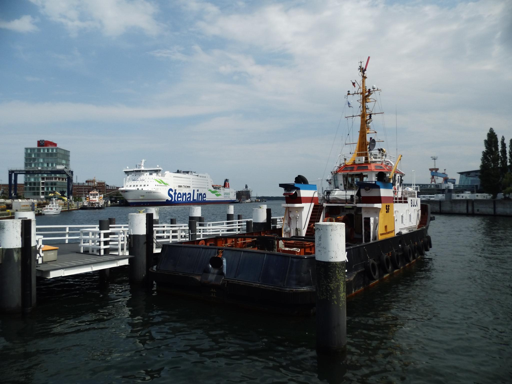 Photo in Sea and Sand #tug boat #harbour #kiel #germany