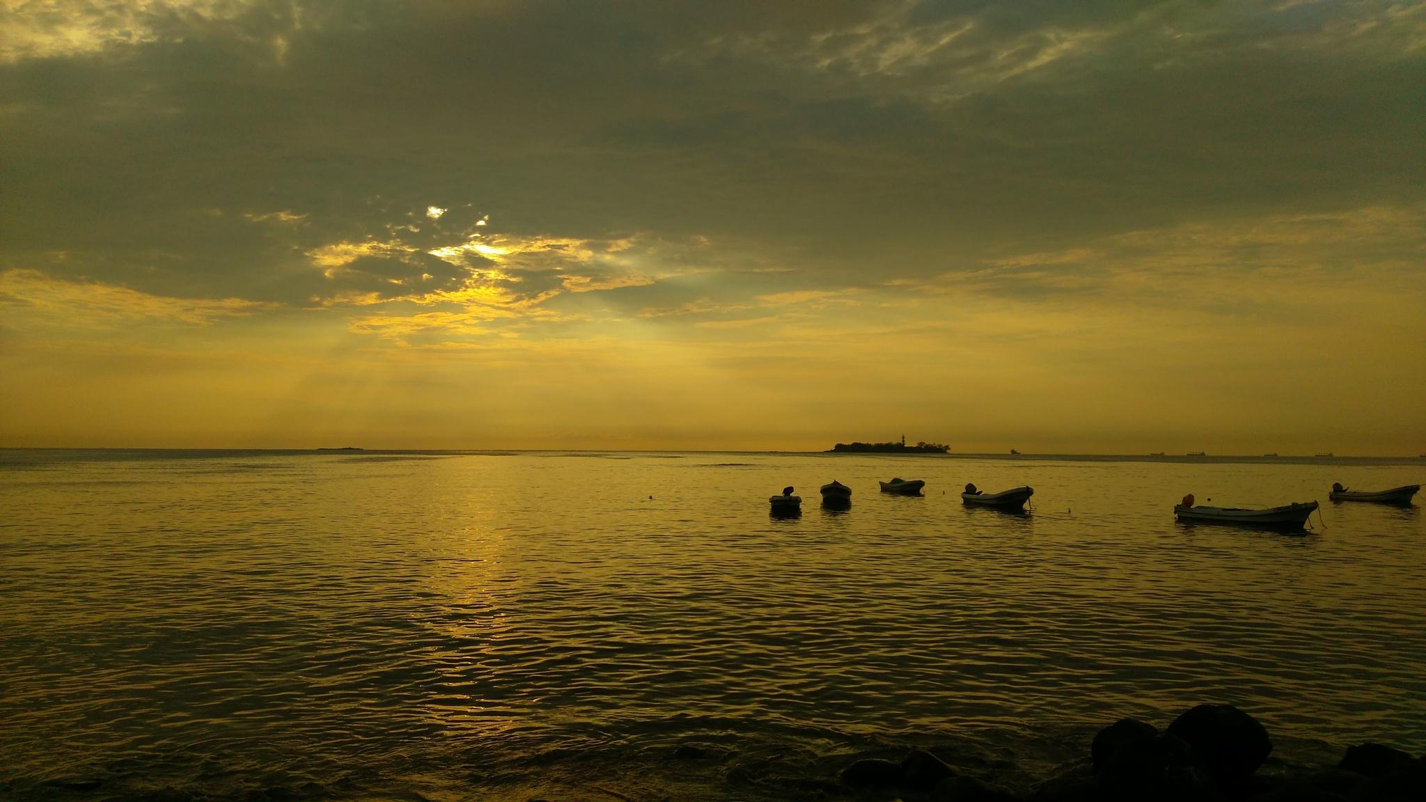 Photo in Landscape #fisher #sunrise #veracruz #seawork
