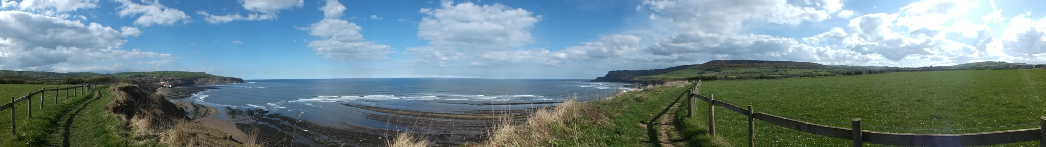 Robin Hoods Bay - Yorkshire Panoramic by Chris Dale
