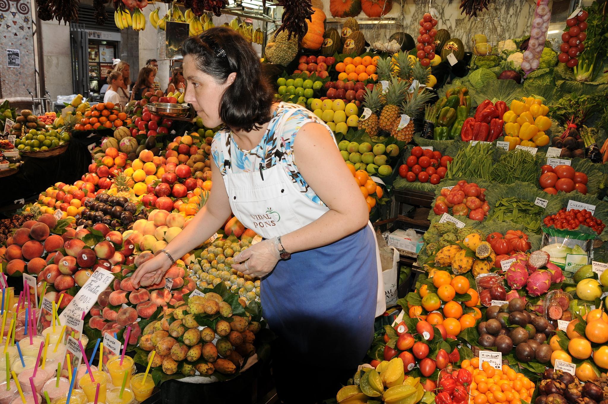 Fruit Vendor La Boqueria Barcelona by Serge Kay