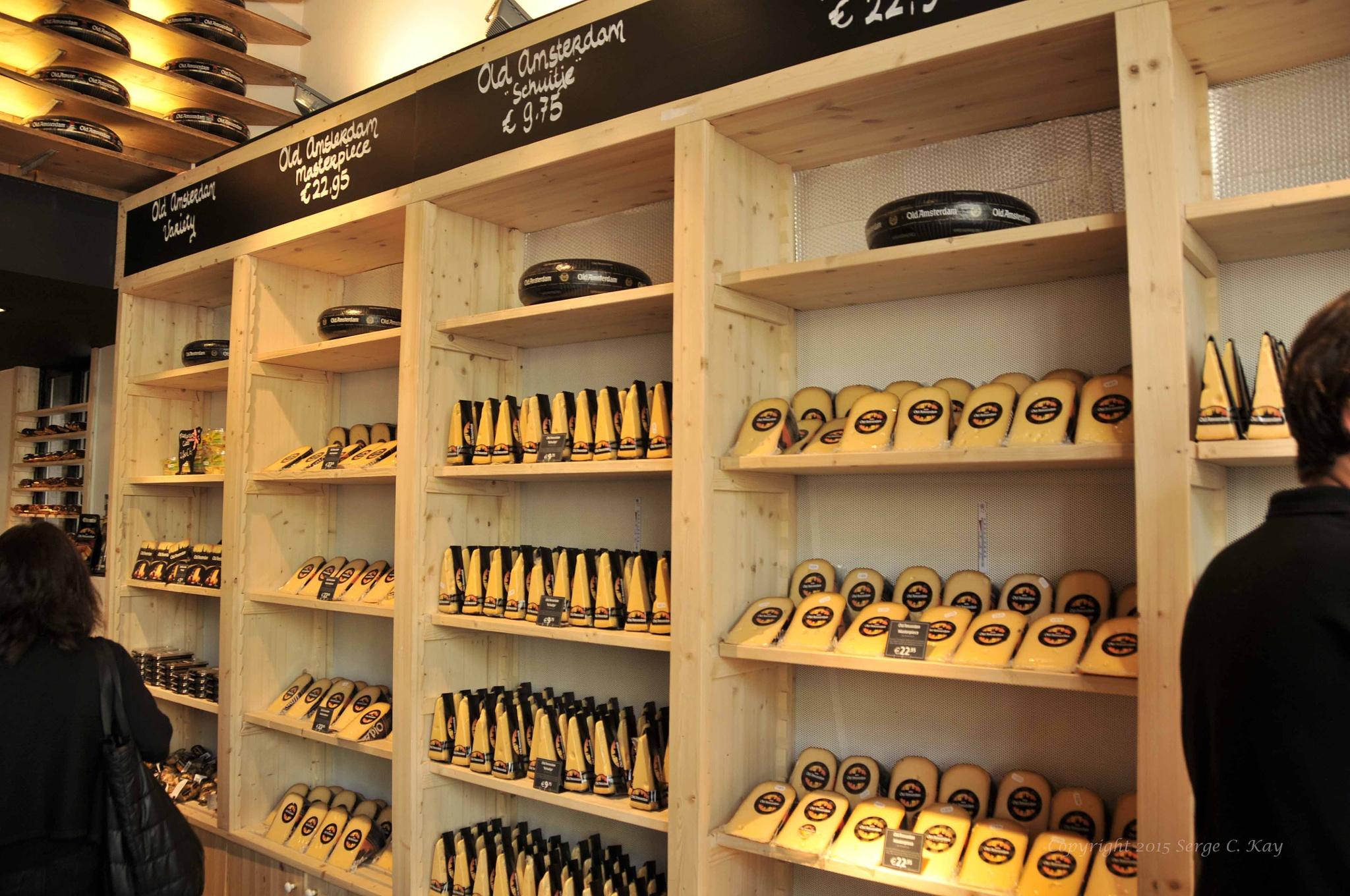 Amsterdam Gouda Cheese Shop by Serge Kay