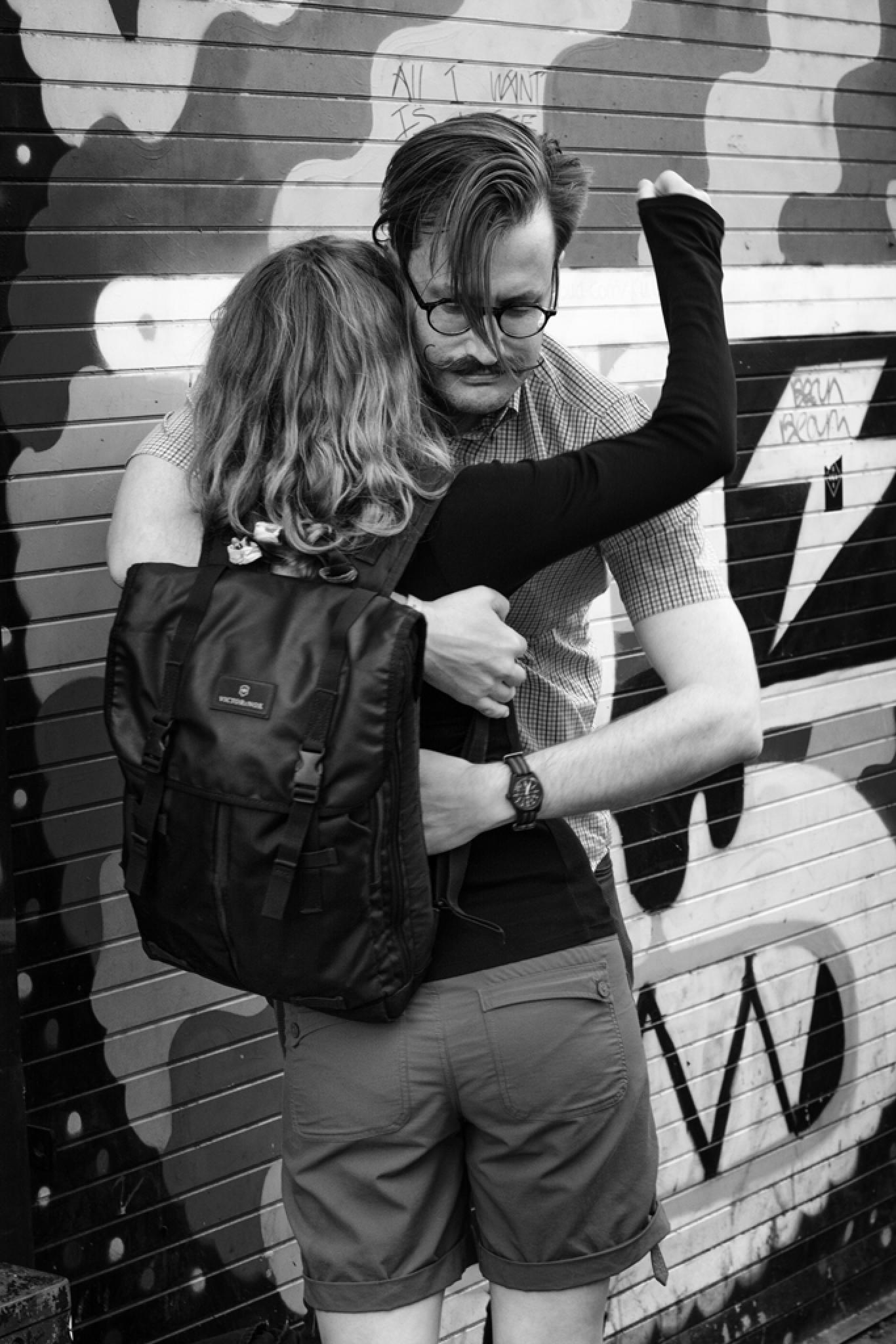 Photo in Street Photography #hug #street #love