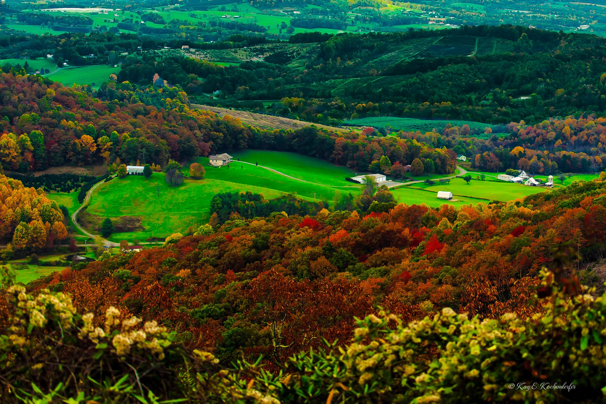 Rolling Hills with Fall Colors by Kay Kochenderfer