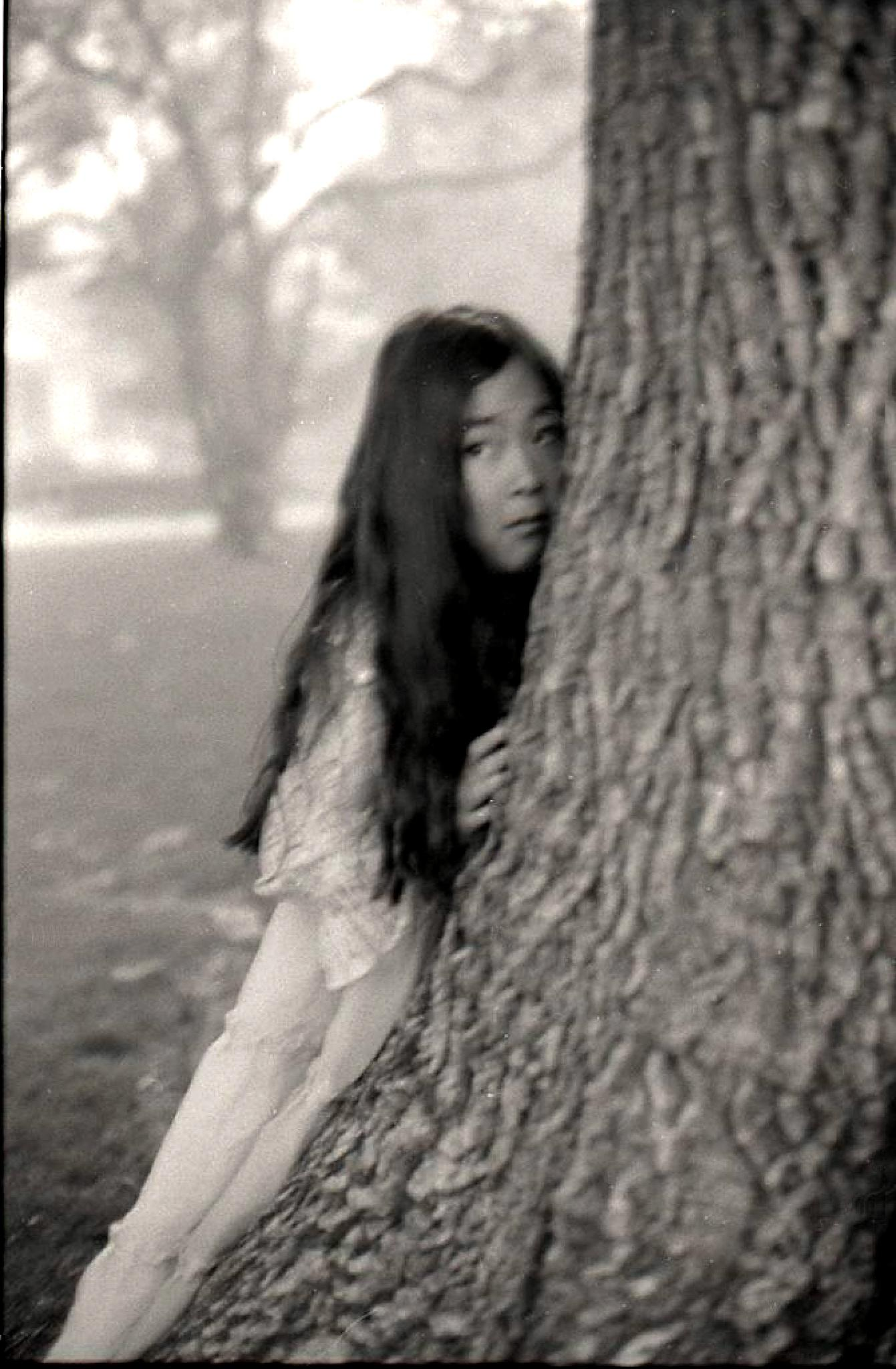 Portrait of Teiko in the Park by T R Leventhal