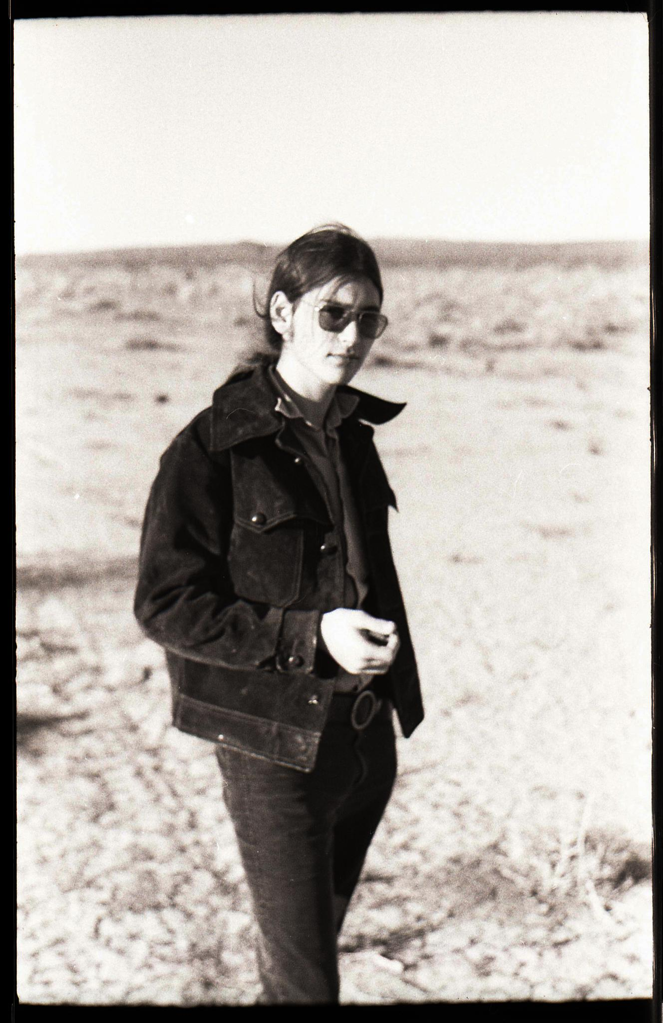 Portrait of Jay in the Mojave Desert by T R Leventhal