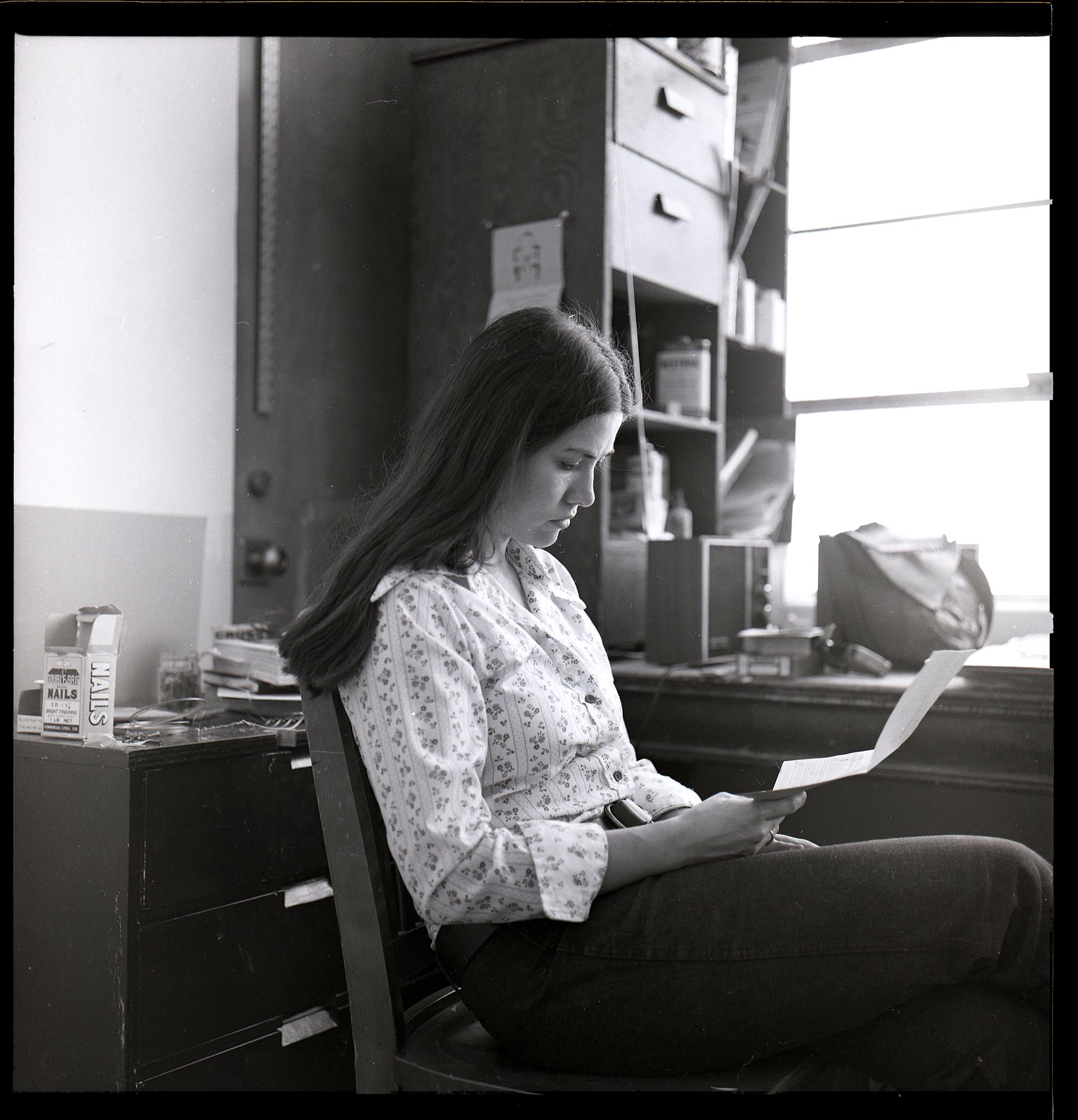 Fran reading in her studio by T R Leventhal