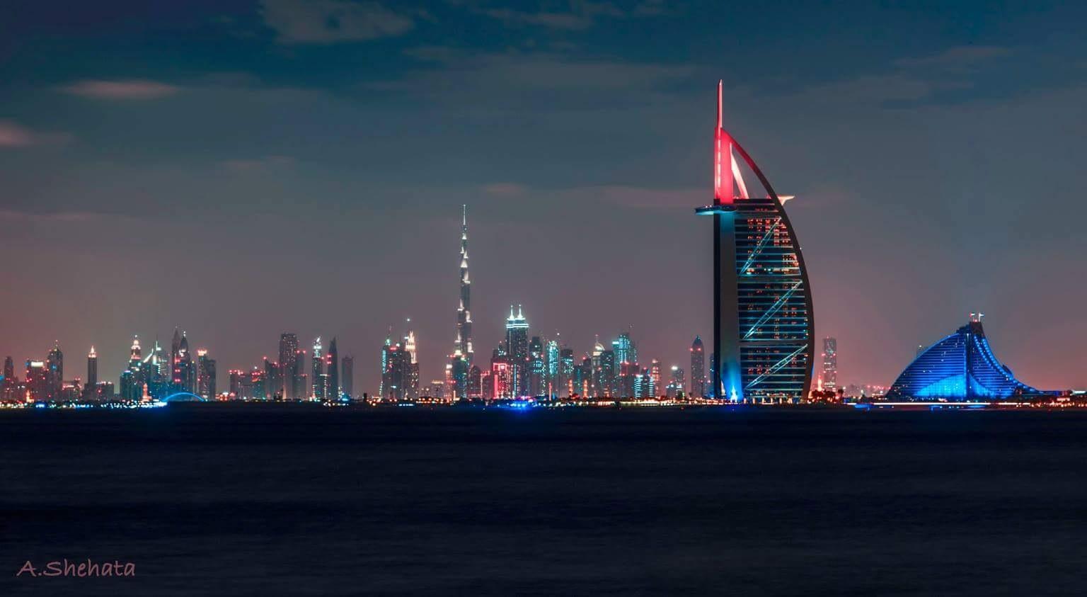 Dubai night  by AhmedShehata