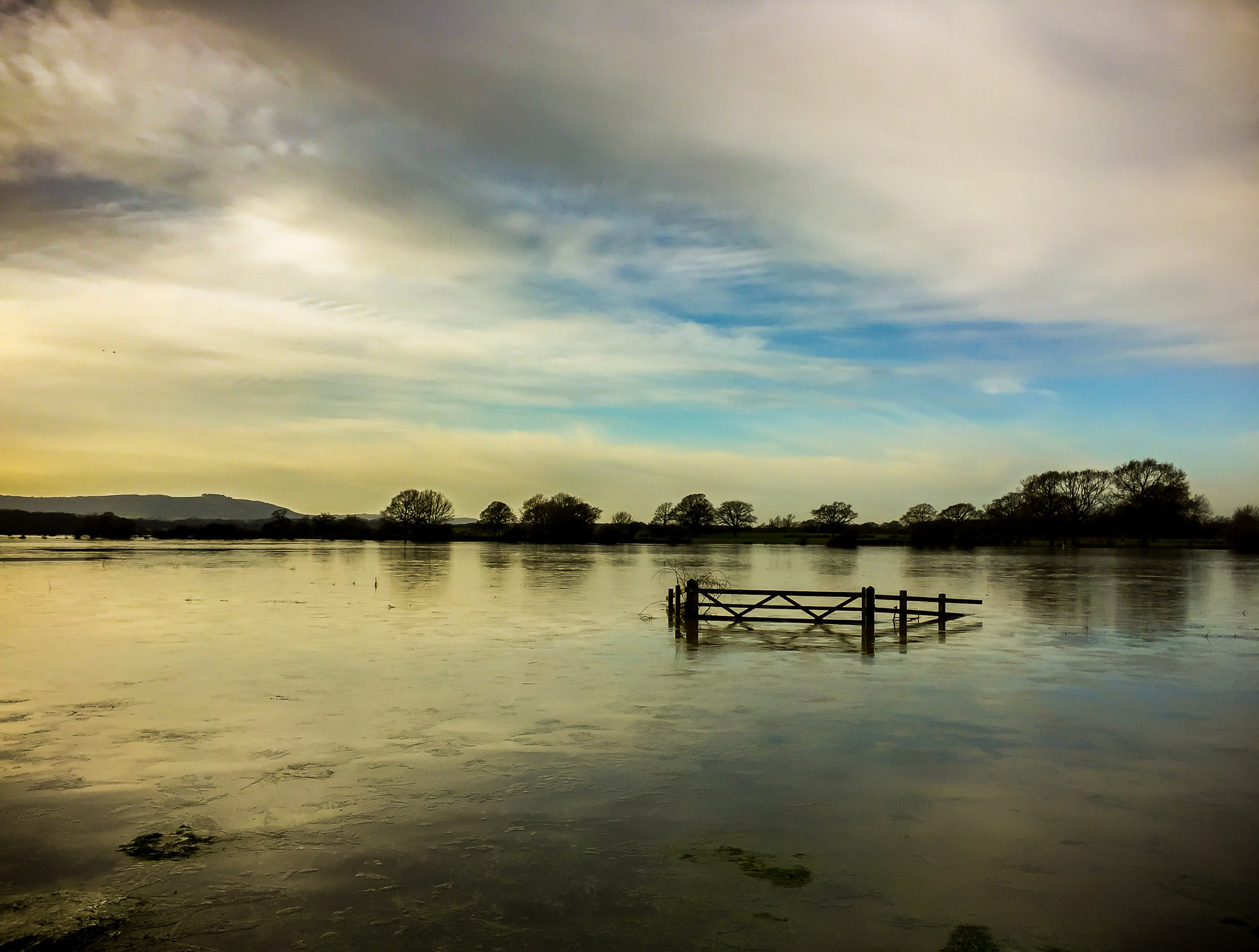 Flooded meadow in West Sussex by Peter McCormack