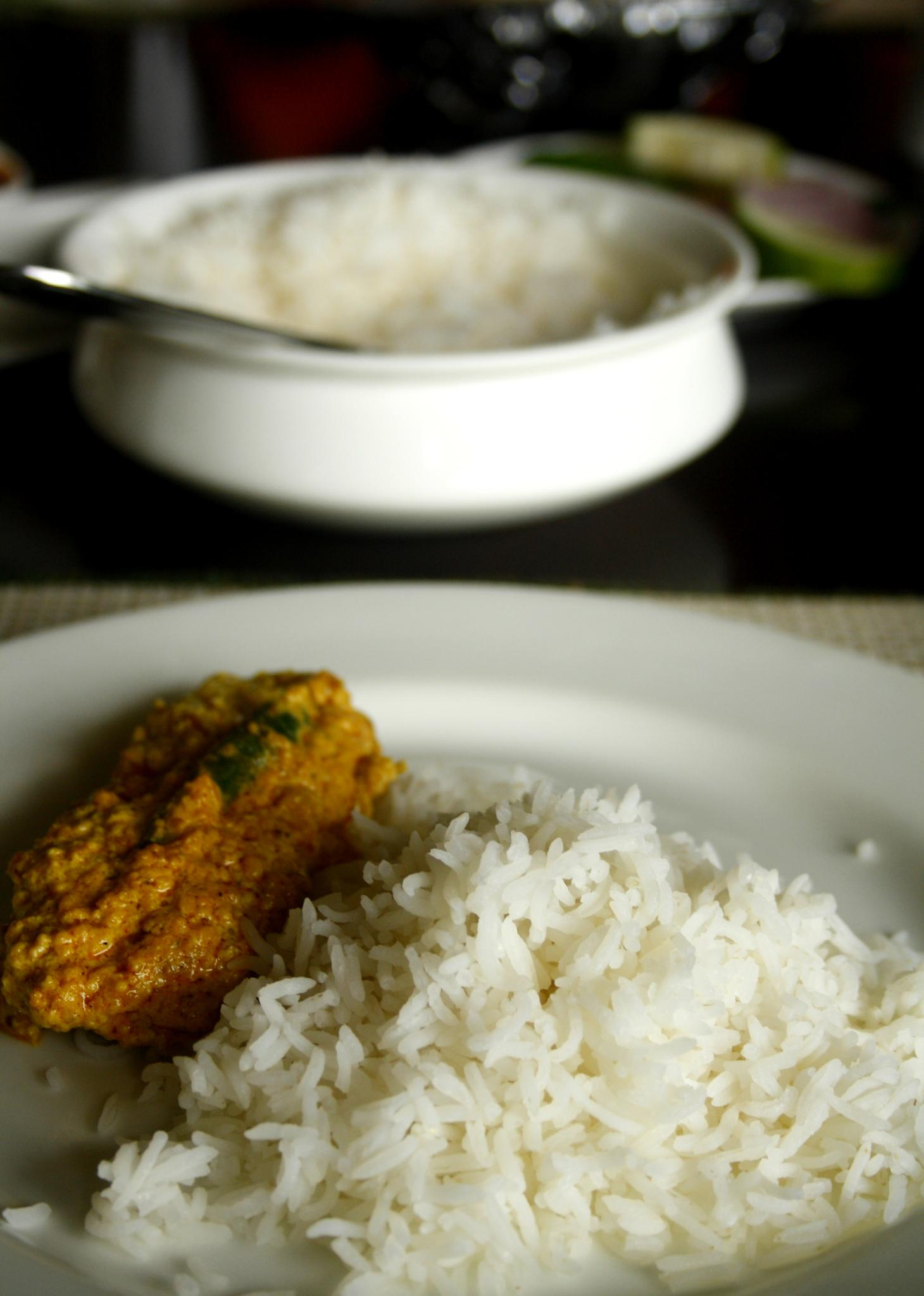 Fish in Mustard Sauce & Rice by Manishabajaj
