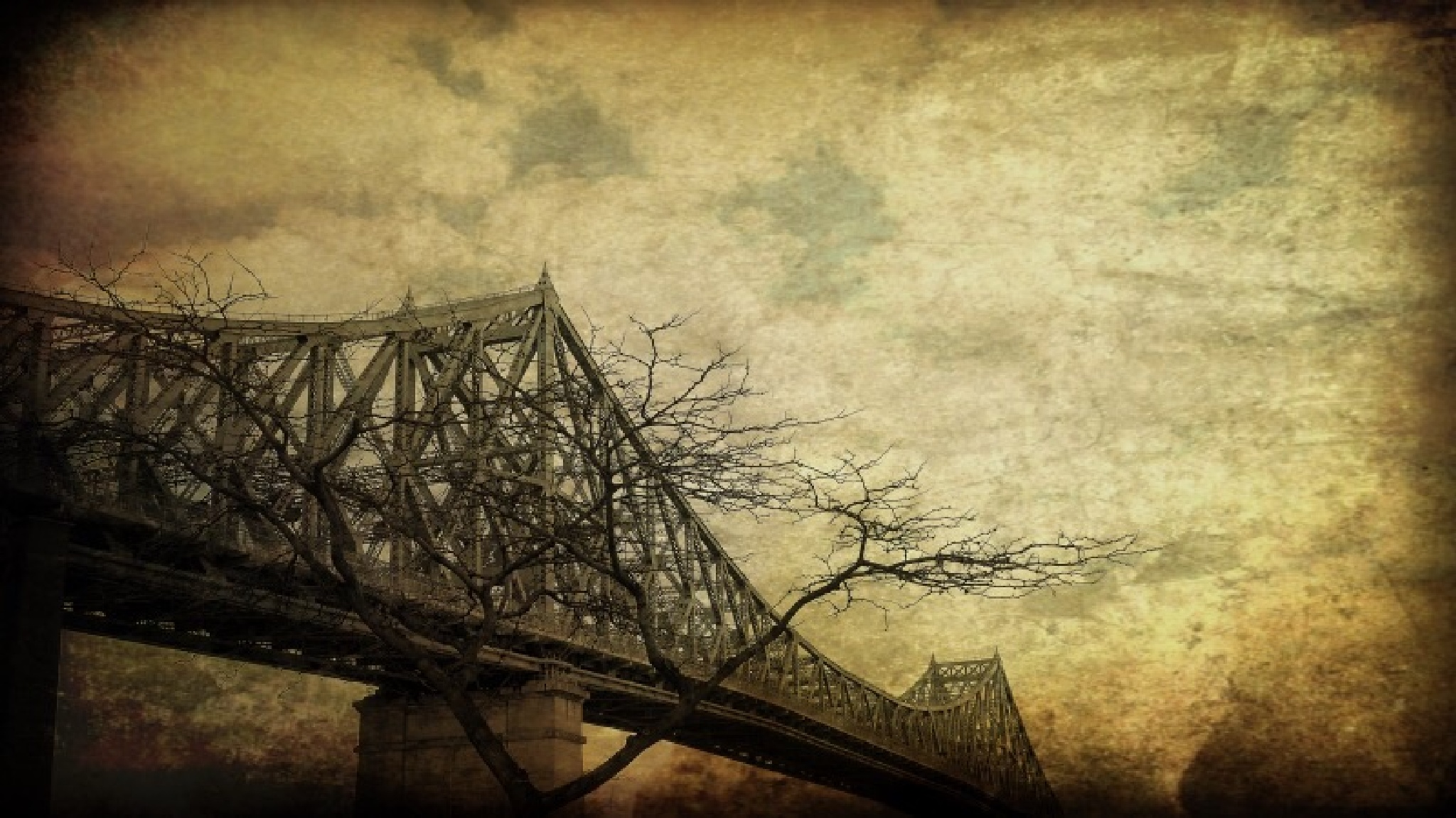 Montreal. Jacques-Cartier bridge  by tikotak2014