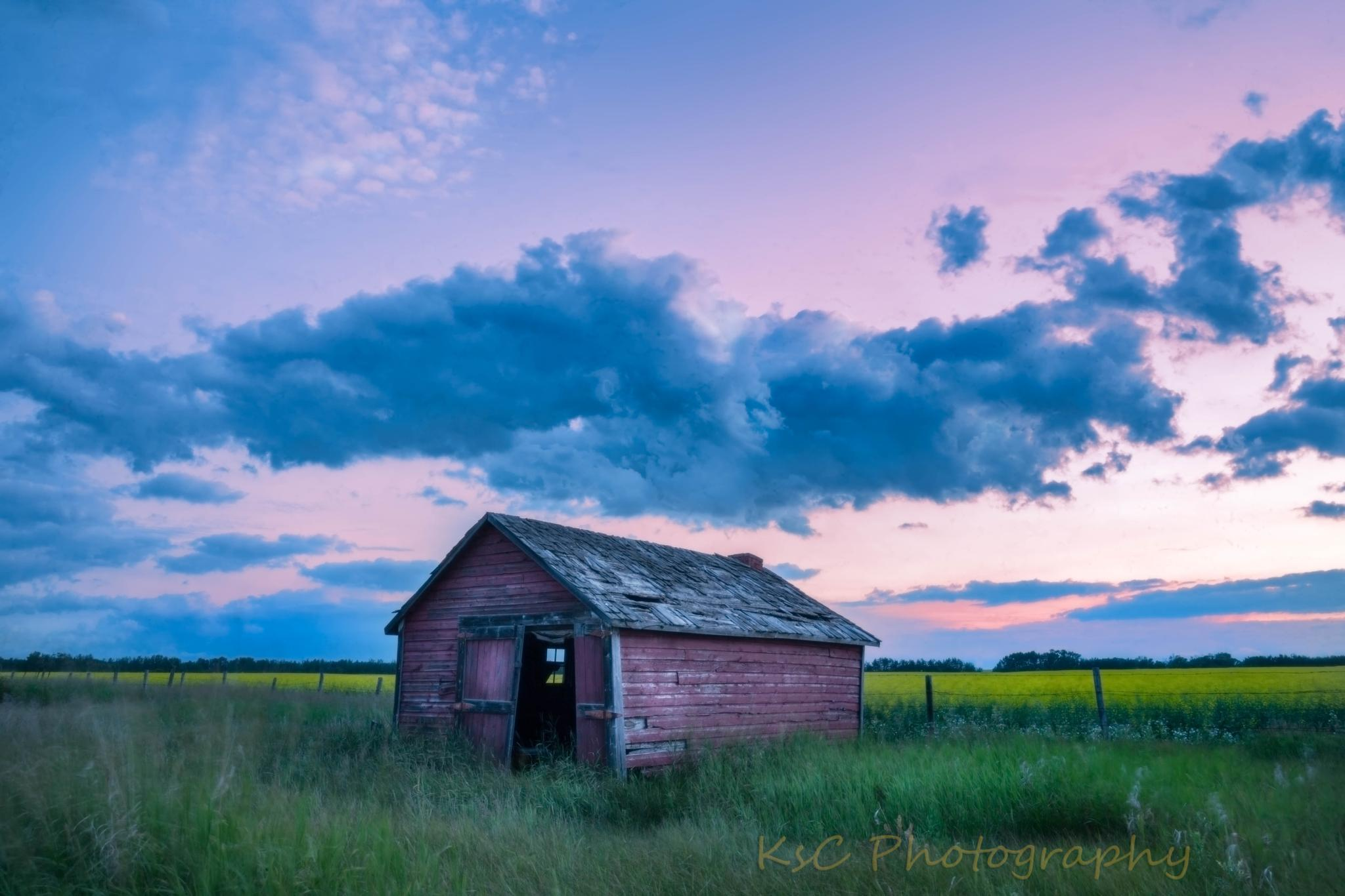 Photo in Landscape #alberta #sunset #abandoned buildings