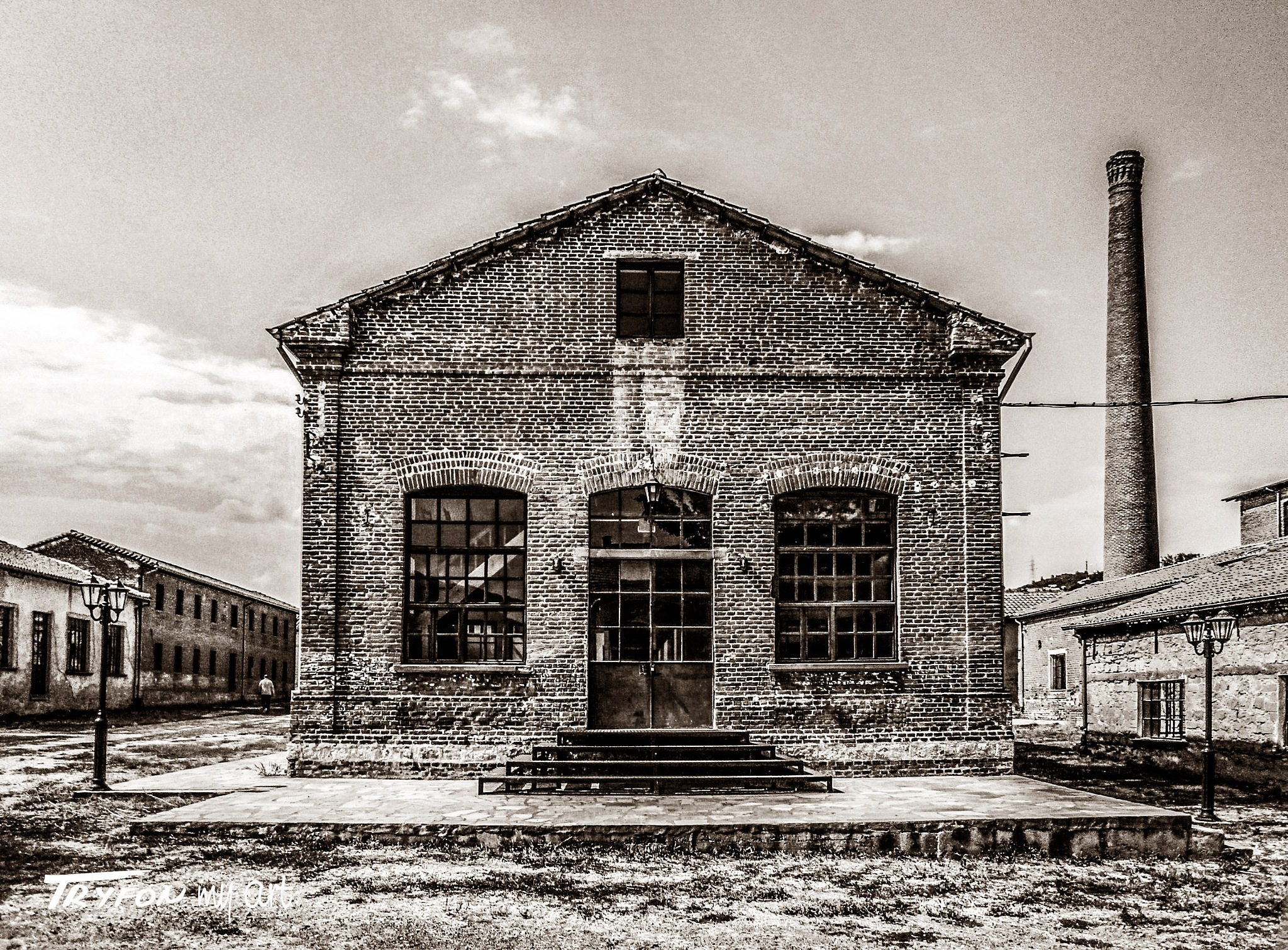 Factory for silk museum - (1920) - 01 - sepia. by tryfongraphics