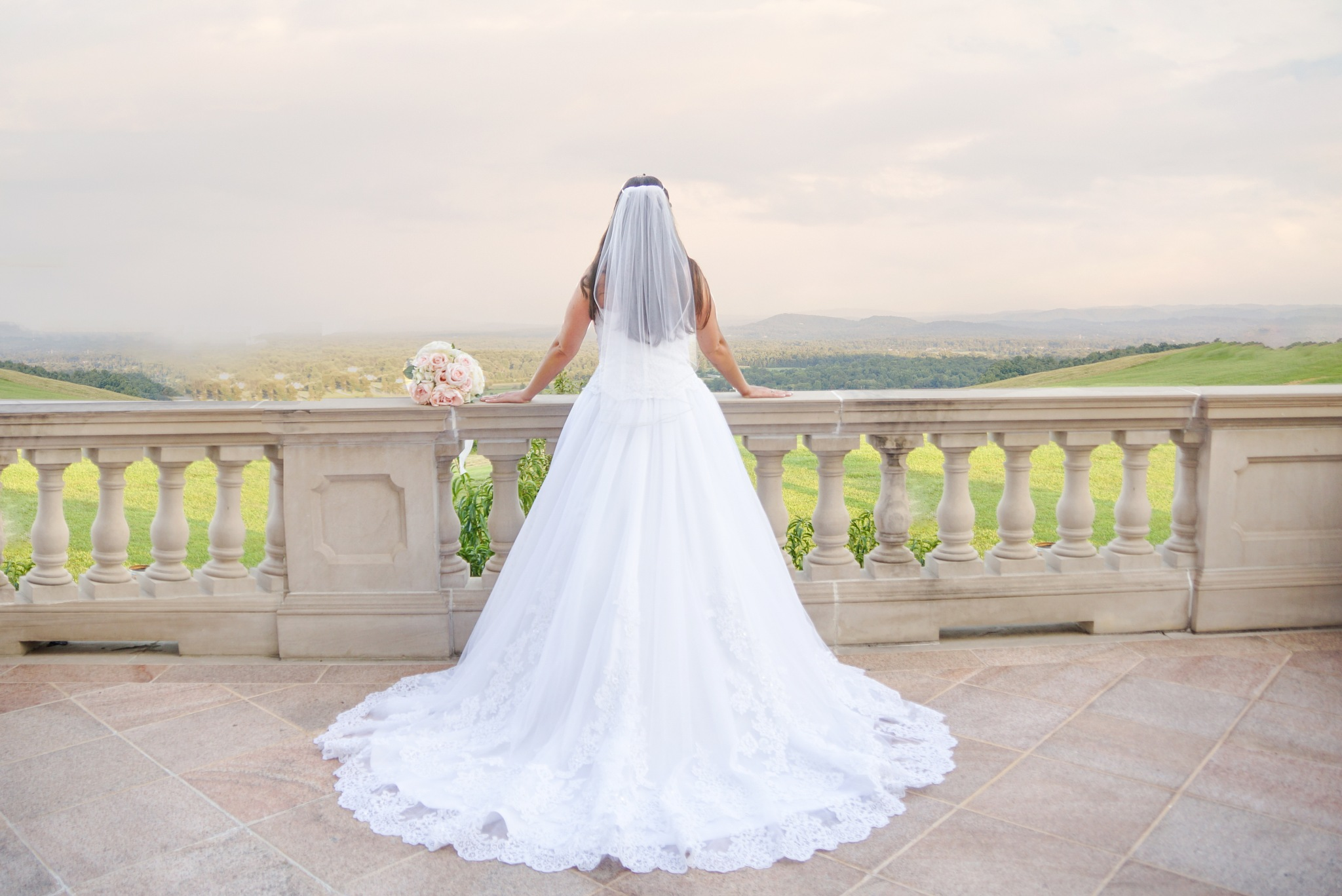 Bride with a view by Mary Wolfe
