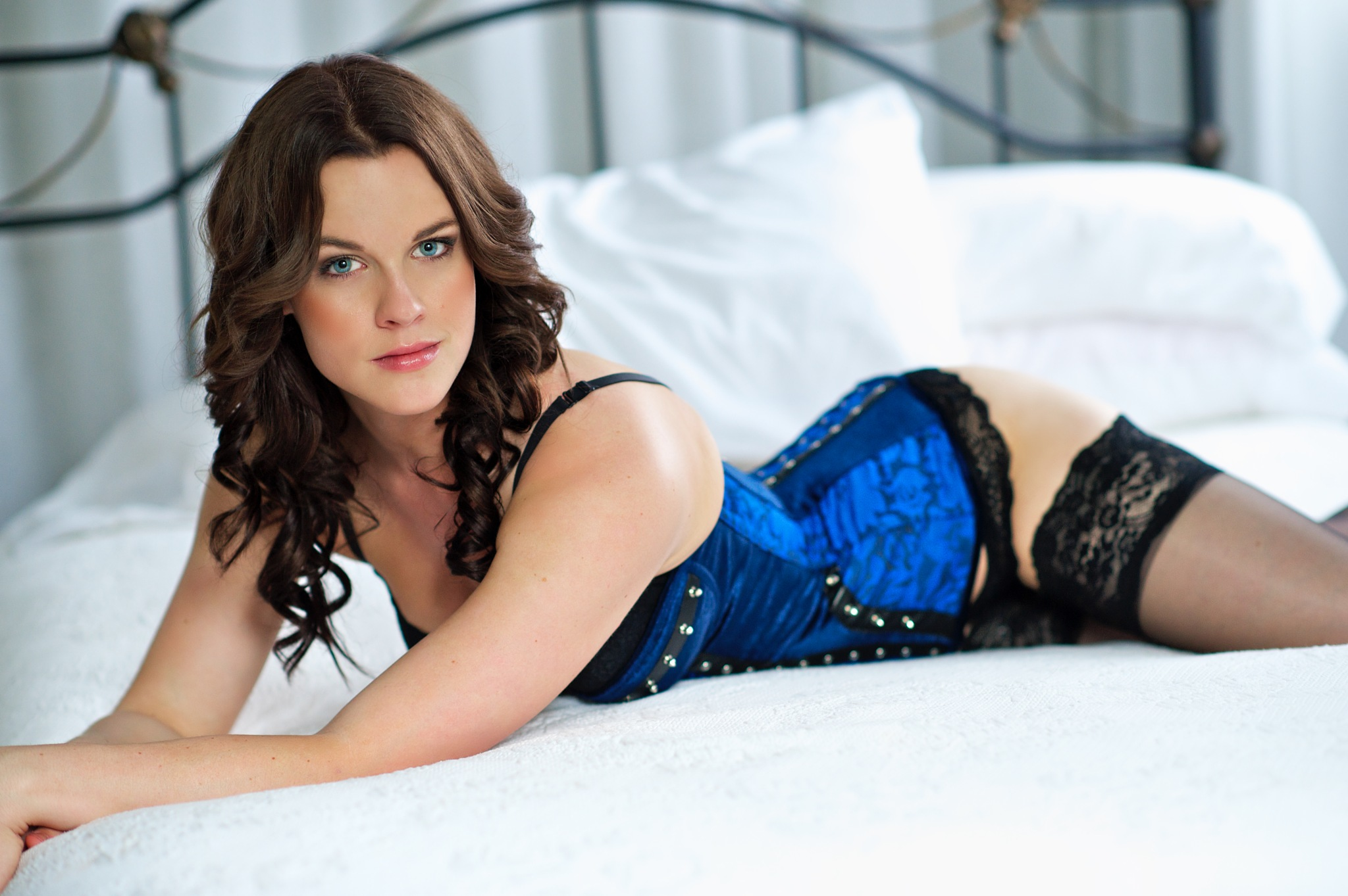 Blue Corset by Valley Images Photography - Craig Andrews