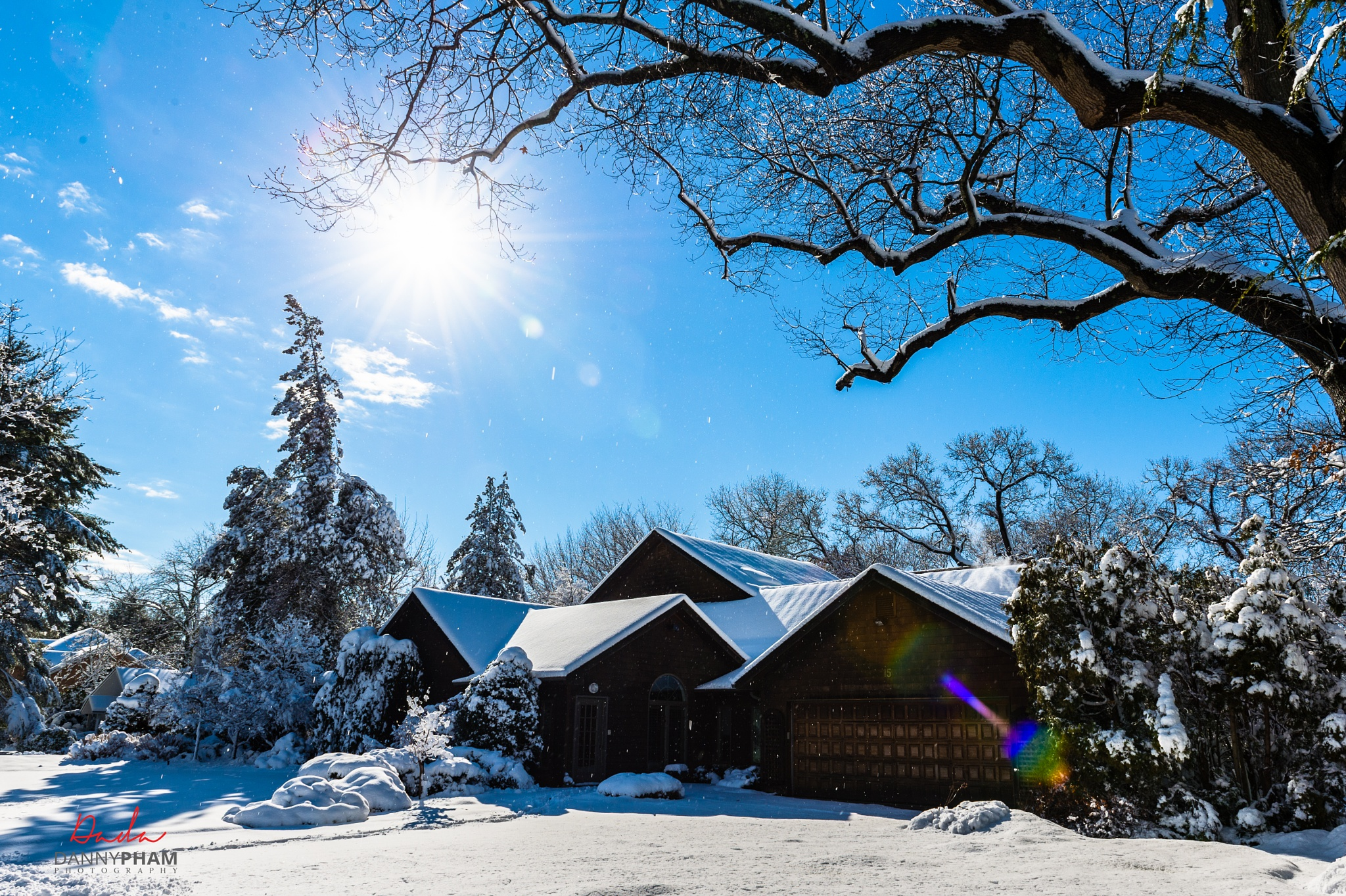 Postcard moment...  After a heavy & wet snow storm! by Danny Pham