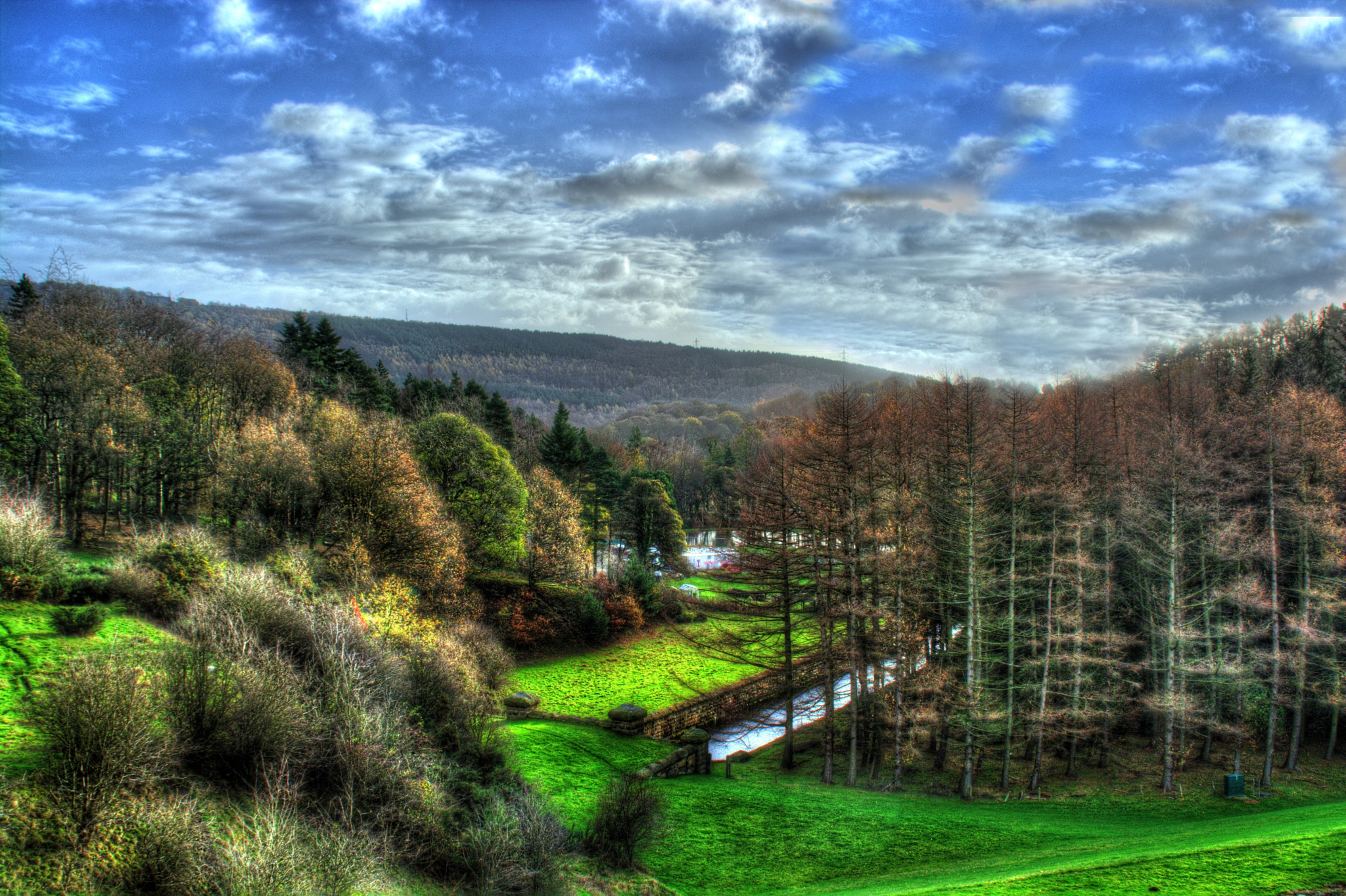 Photo in Landscape #countryside #water #forest #woods #scenery #sky #cloud #view #rural #landscape