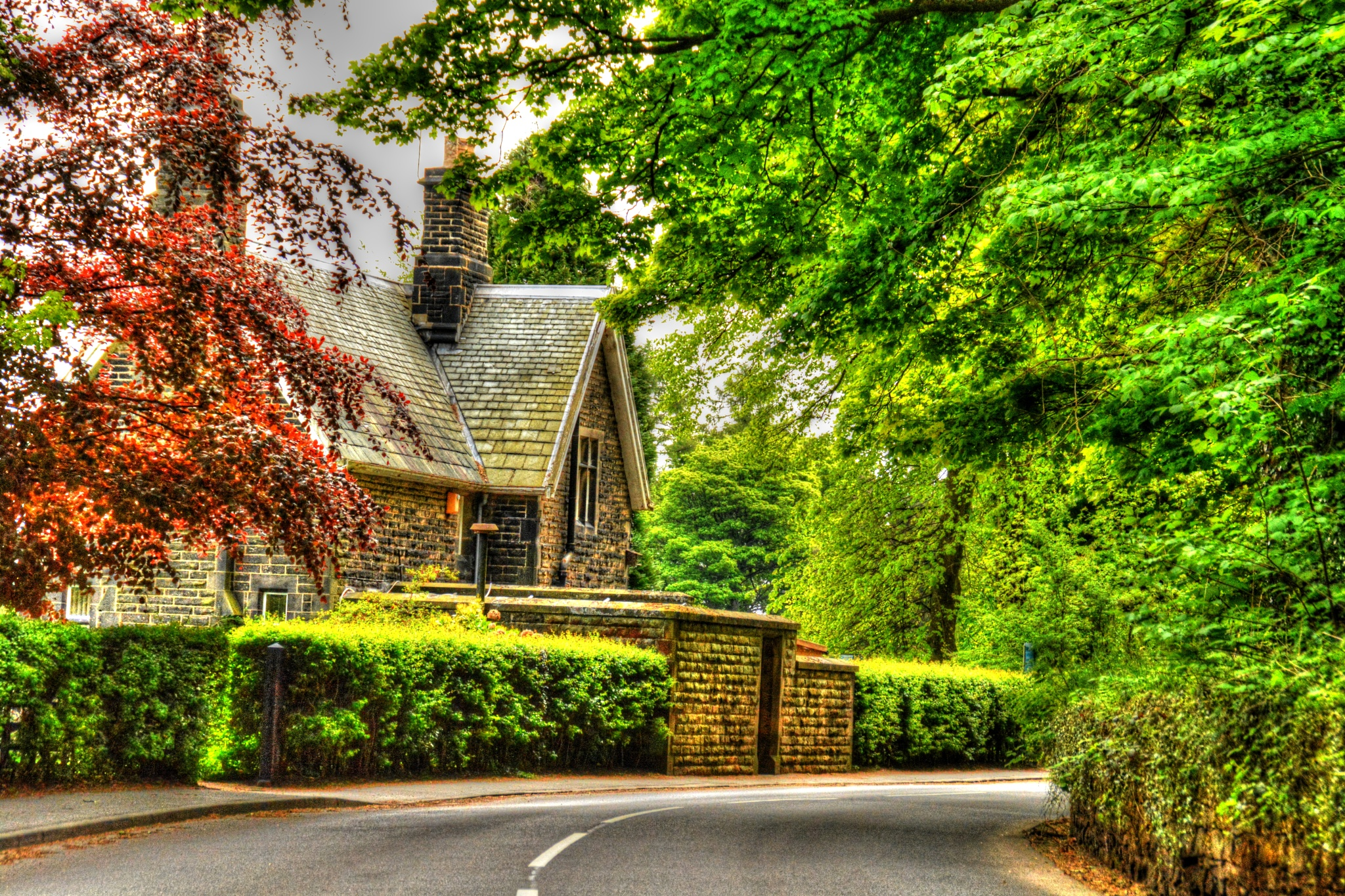 country lane bradfield landscape by Stuart Robertshaw Photography
