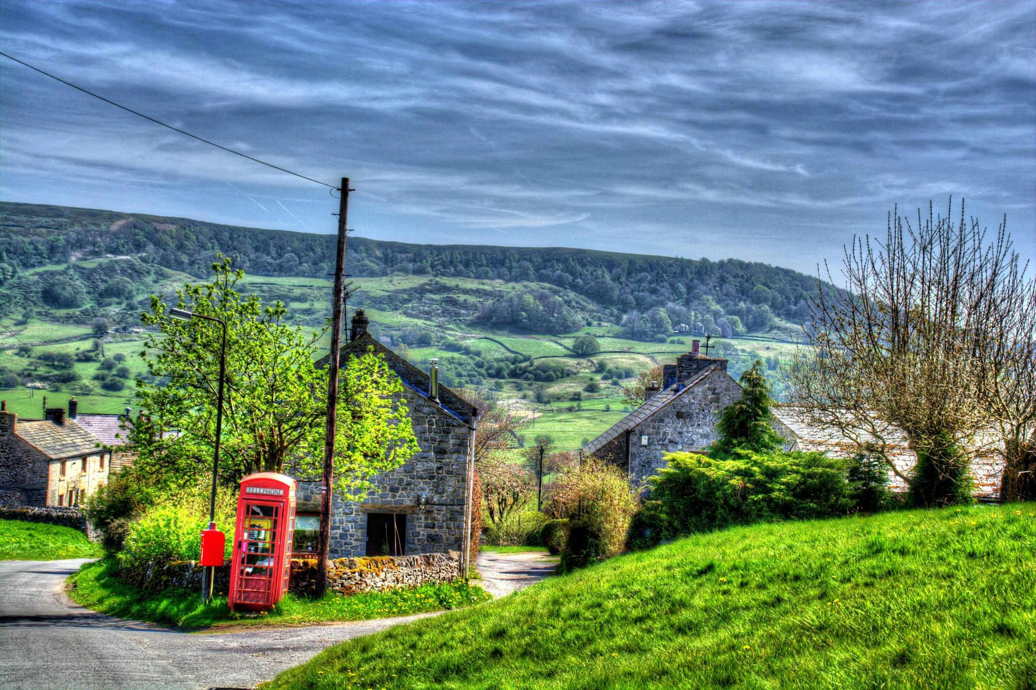 country village scene derbyshire landscape by Stuart Robertshaw Photography