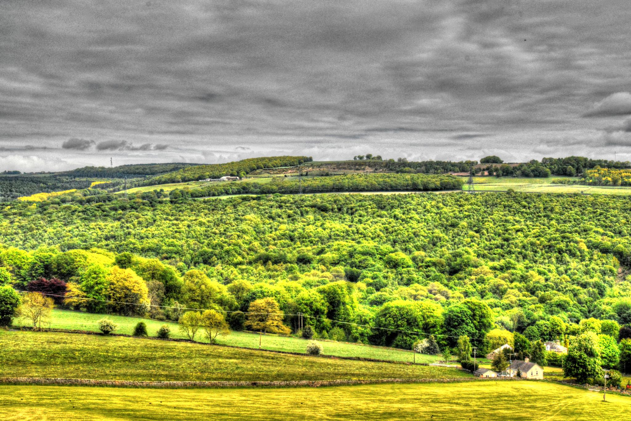 view from worral sheffield by Stuart Robertshaw Photography