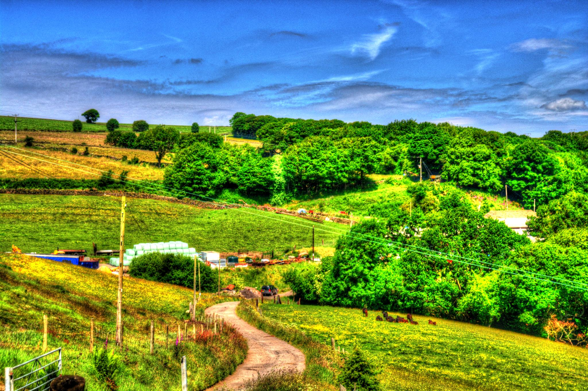 countryside view sheffield yorkshire by Stuart Robertshaw Photography