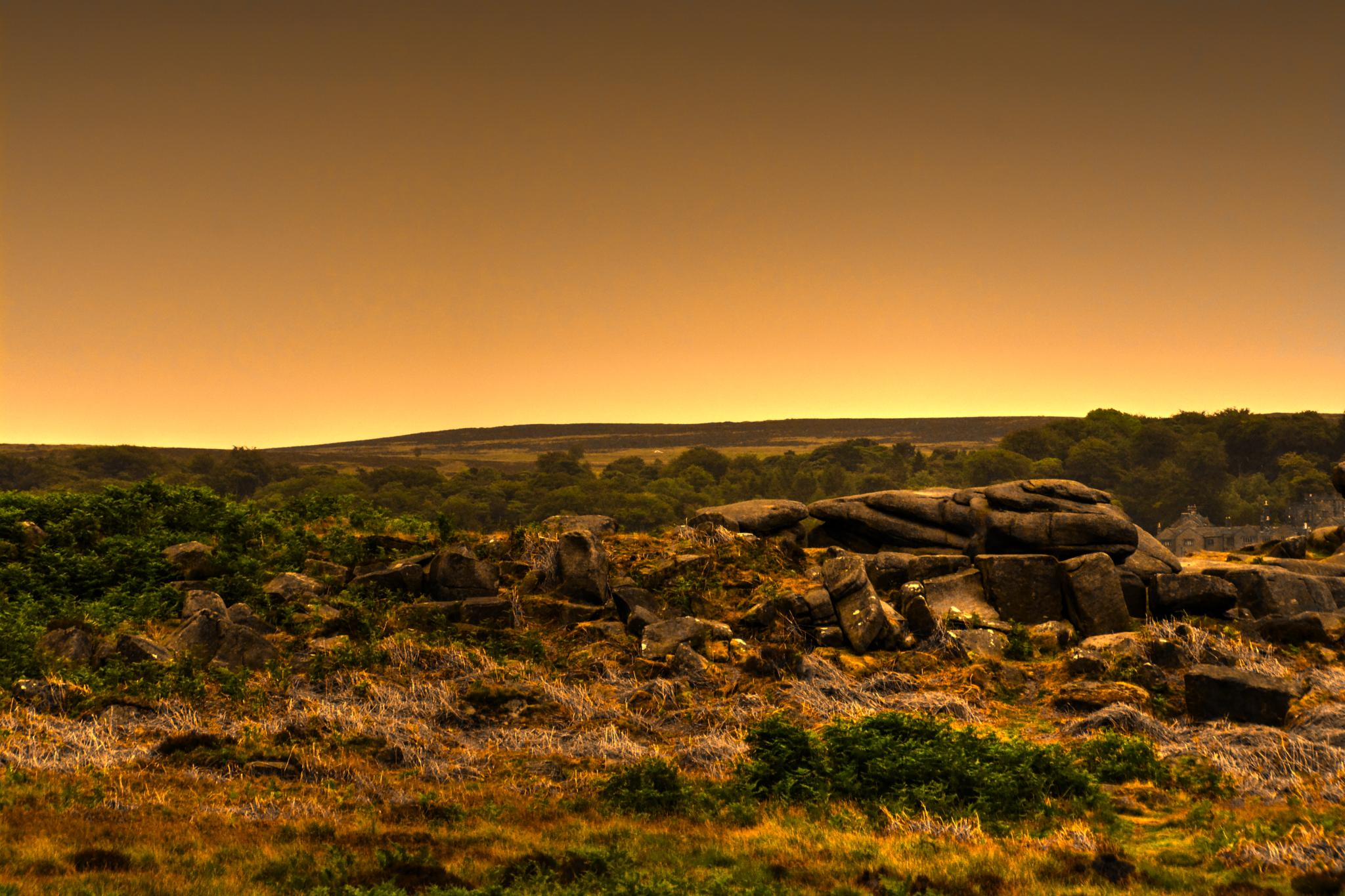 sunset in derbyshire by Stuart Robertshaw Photography