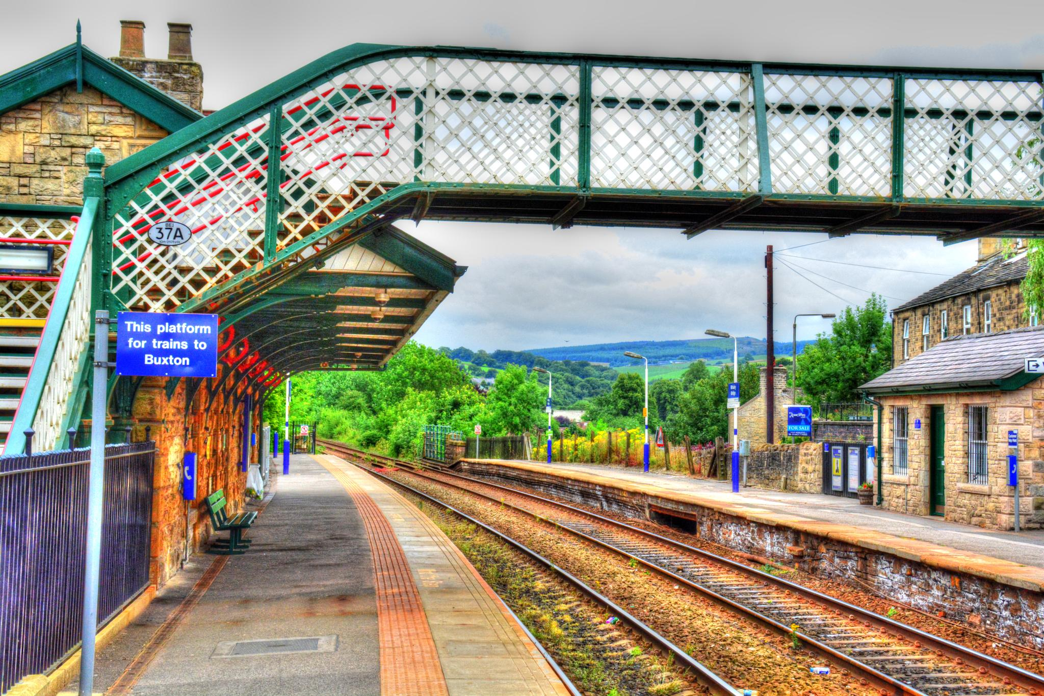 whaley bridge railway station derbyshire by Stuart Robertshaw Photography