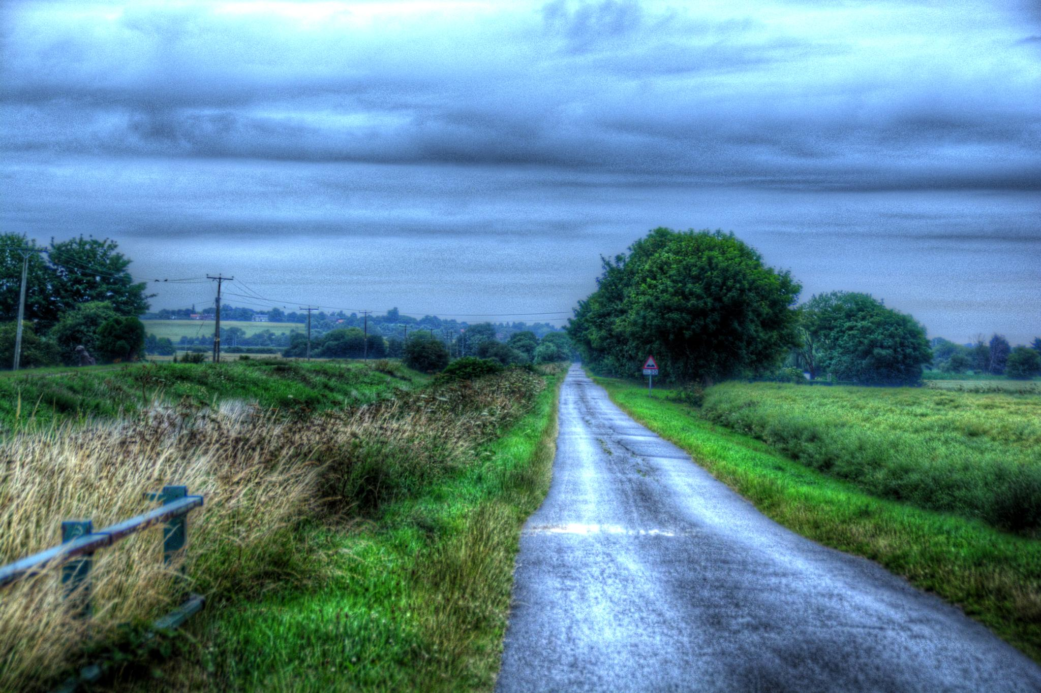country lane lincolnshire at dusk by Stuart Robertshaw Photography