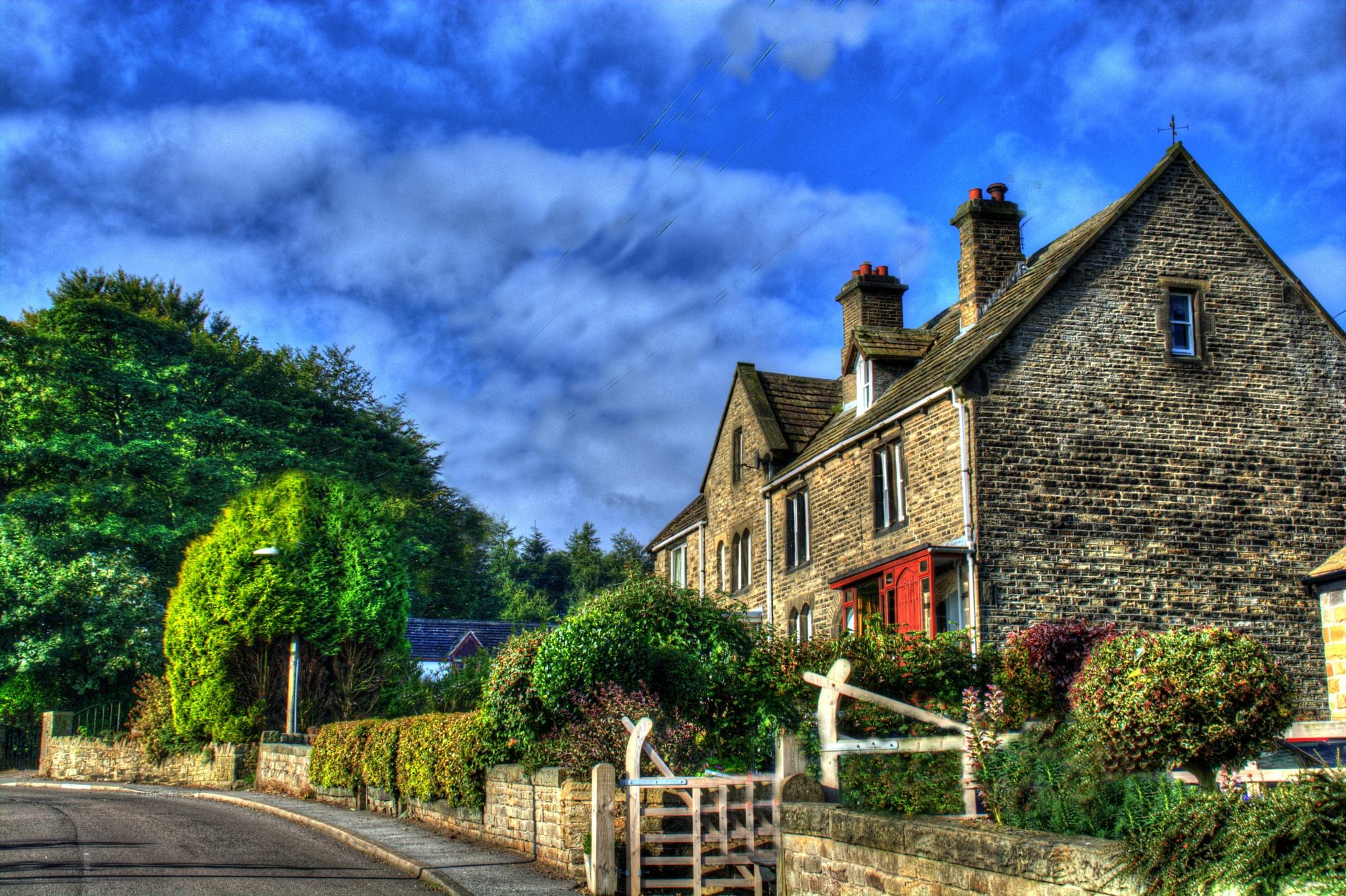 village scene near holmfirth yorkshire by Stuart Robertshaw Photography