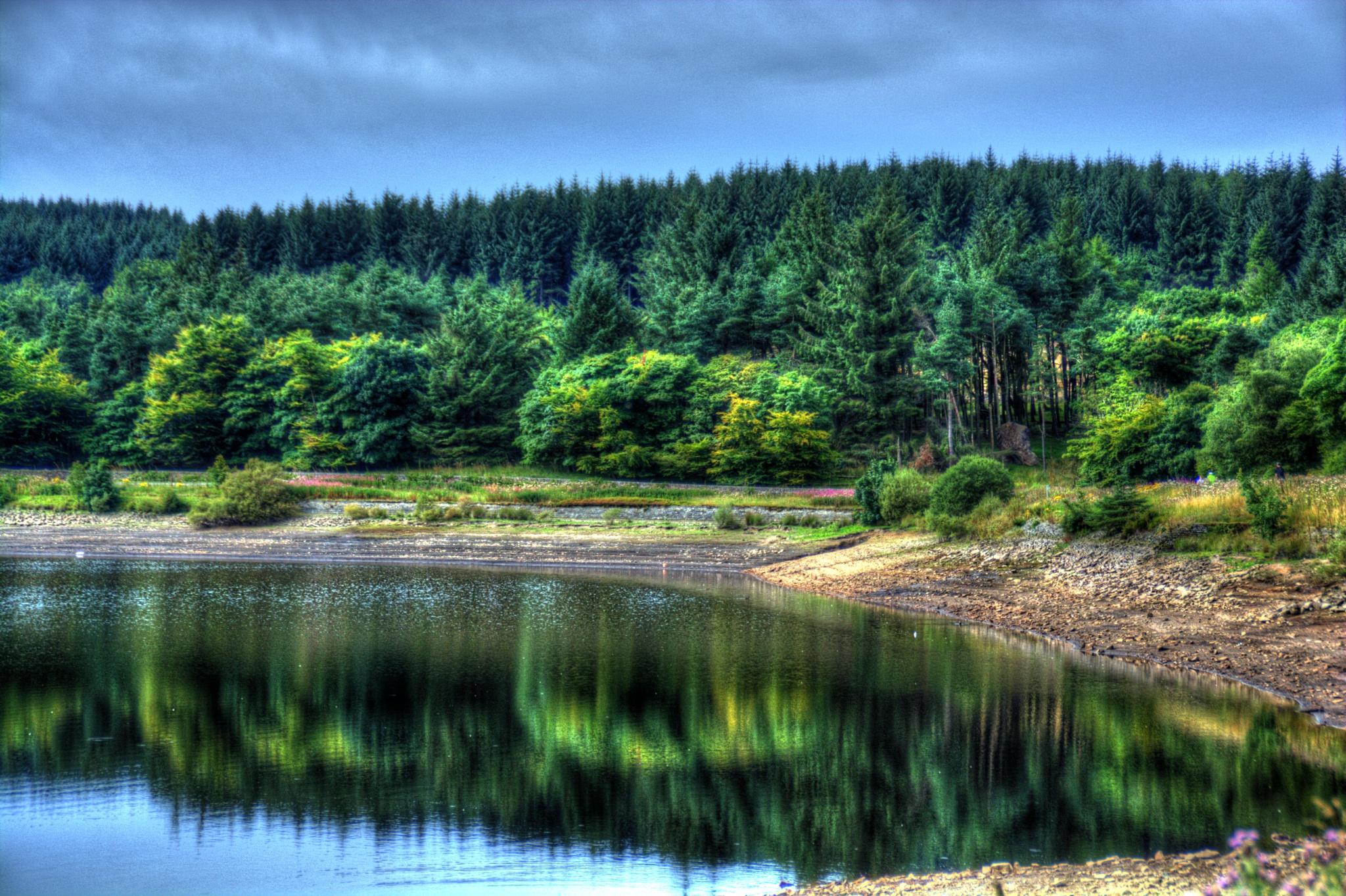 Derbyshire lake reflections by Stuart Robertshaw Photography