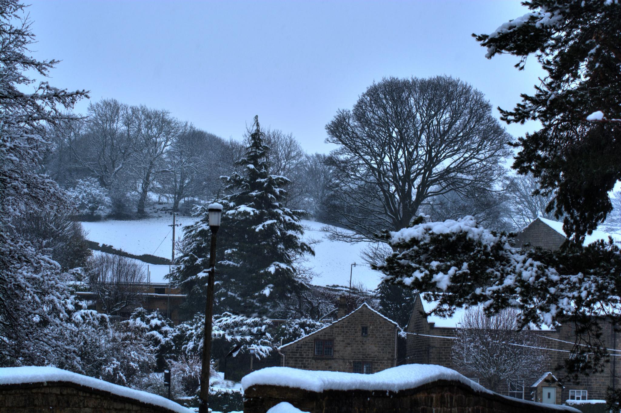 winter village landscape sheffield by Stuart Robertshaw Photography